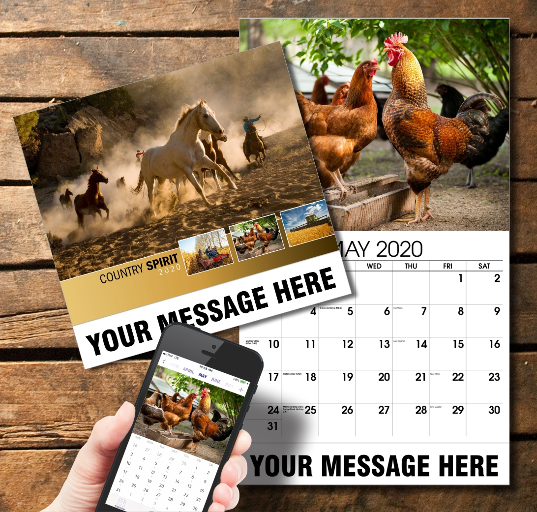 2020 Business Promotion Calendar - Country Spirit and PlumTree app