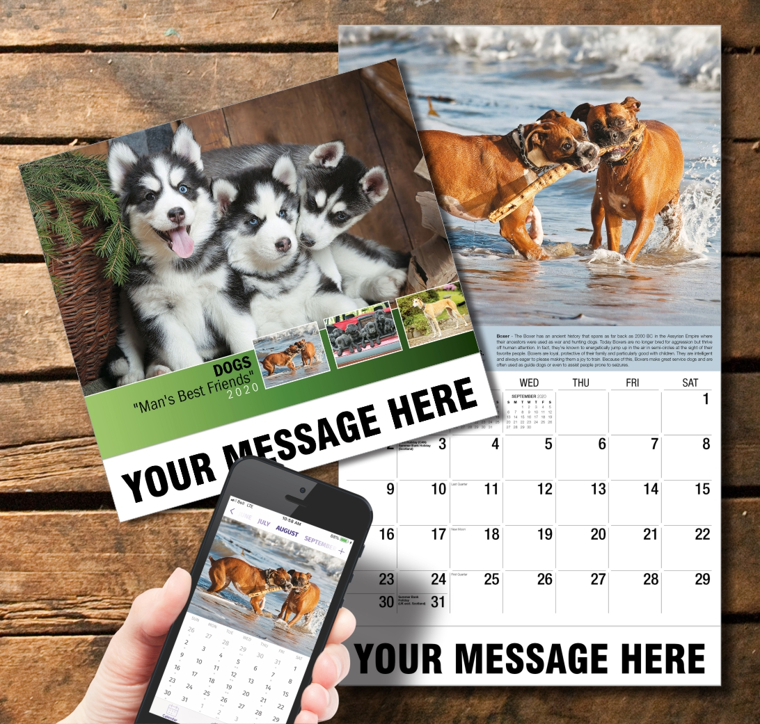 2020 Business Promotion Calendar - Dogs and PlumTree app