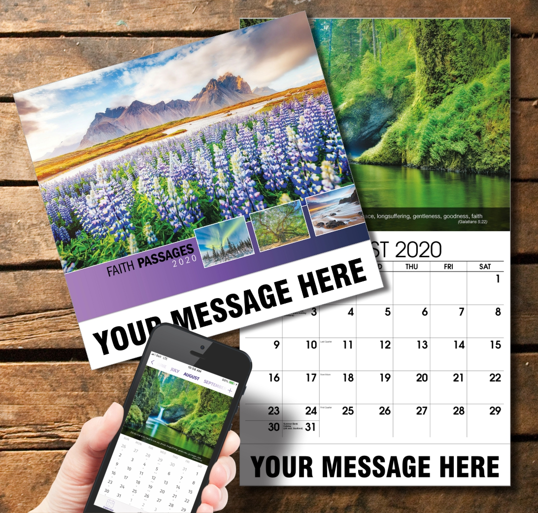 2020 Business Promotion Calendar - Faith Passages and PlumTree app