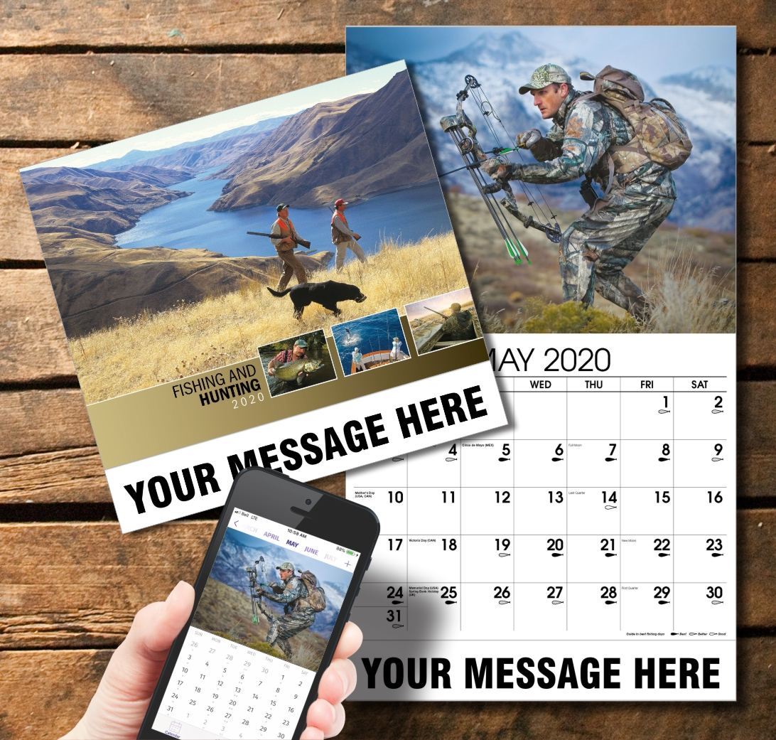 2020 Business Promotion Calendar - Fishing and Hunting and PlumTree app