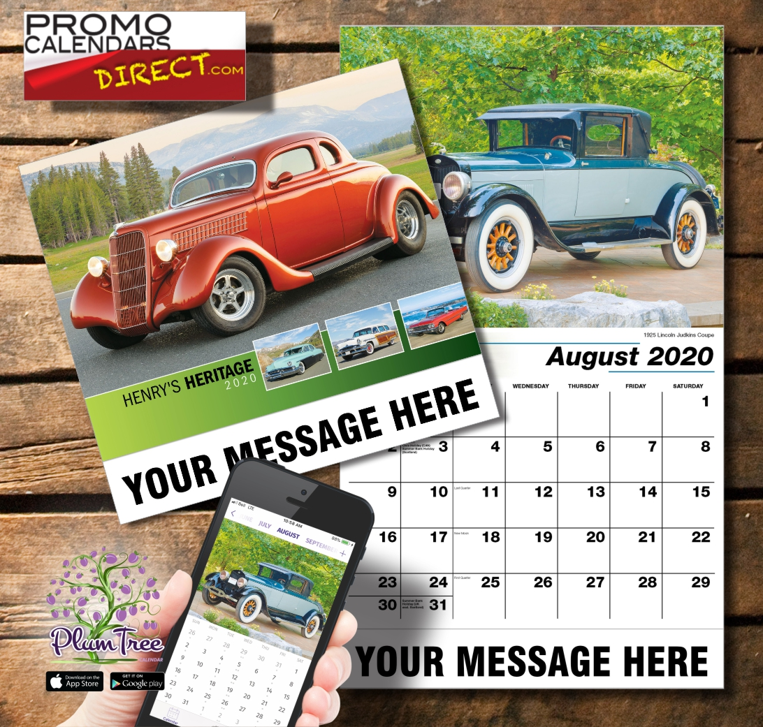 2020 Business Promotion Calendar - Ford Cars and PlumTree app