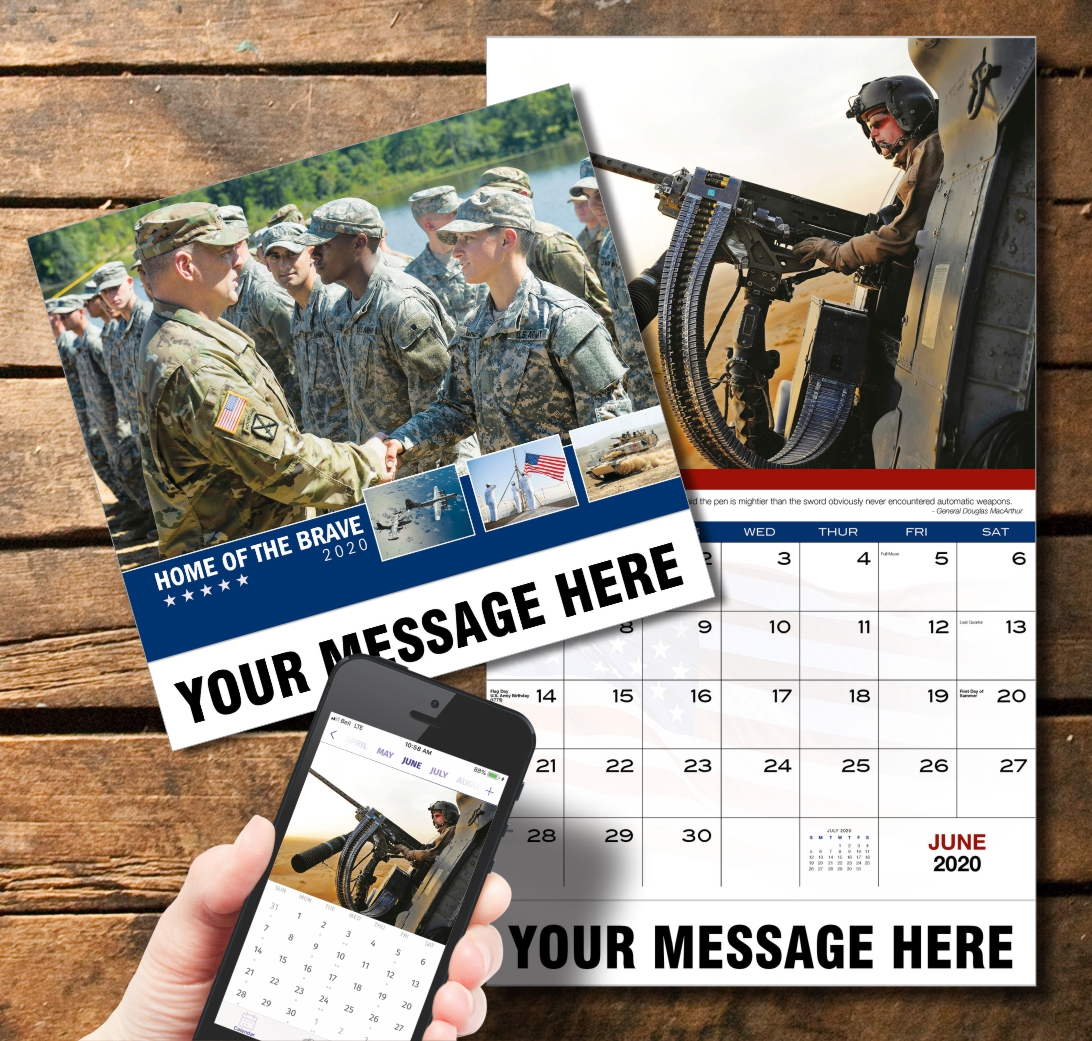 2020 Business Promotion Calendar - Home of the Brave and PlumTree app