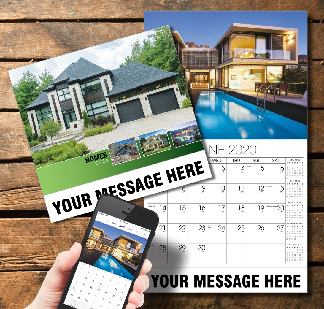 2020 Business Promotion Calendar - Luxury Homes and PlumTree app