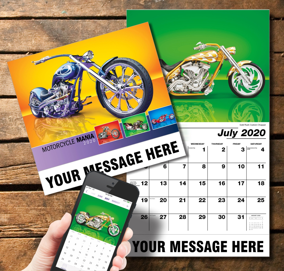 2020 Business Promotion Calendar - Motorcycle Mania and PlumTree app