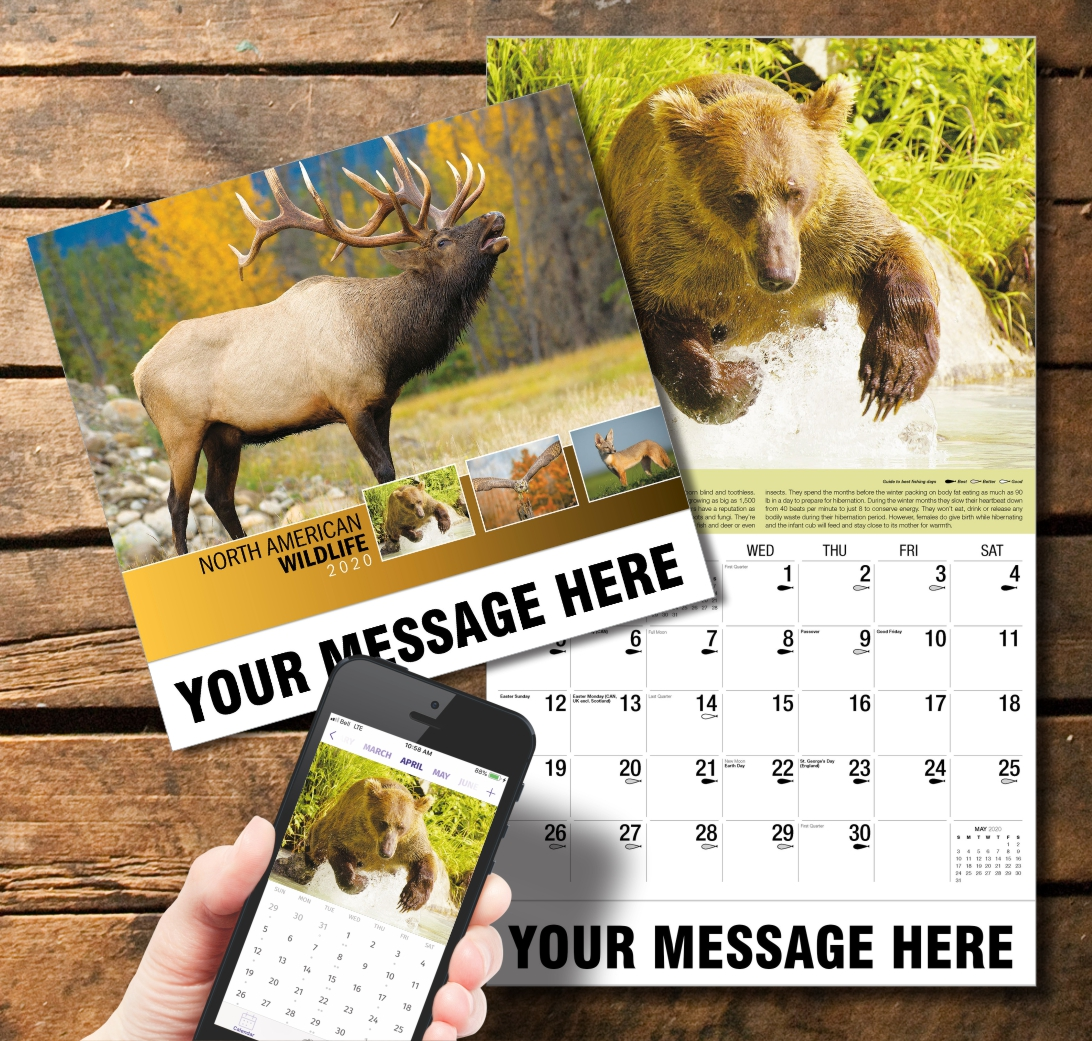 2020 Business Promotion Calendar - North American Wildlife and PlumTree app