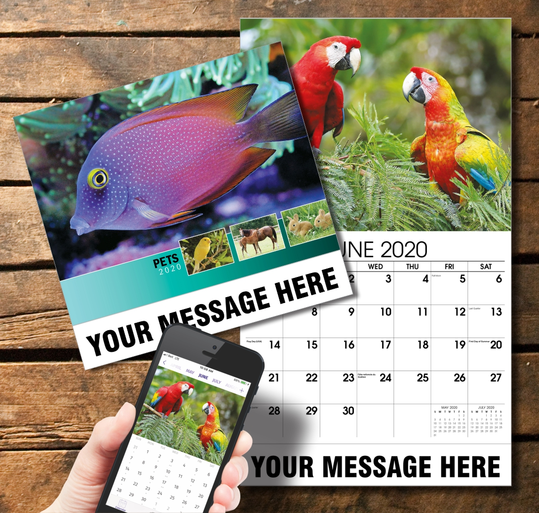 2020 Business Promotion Calendar - Pets and PlumTree app