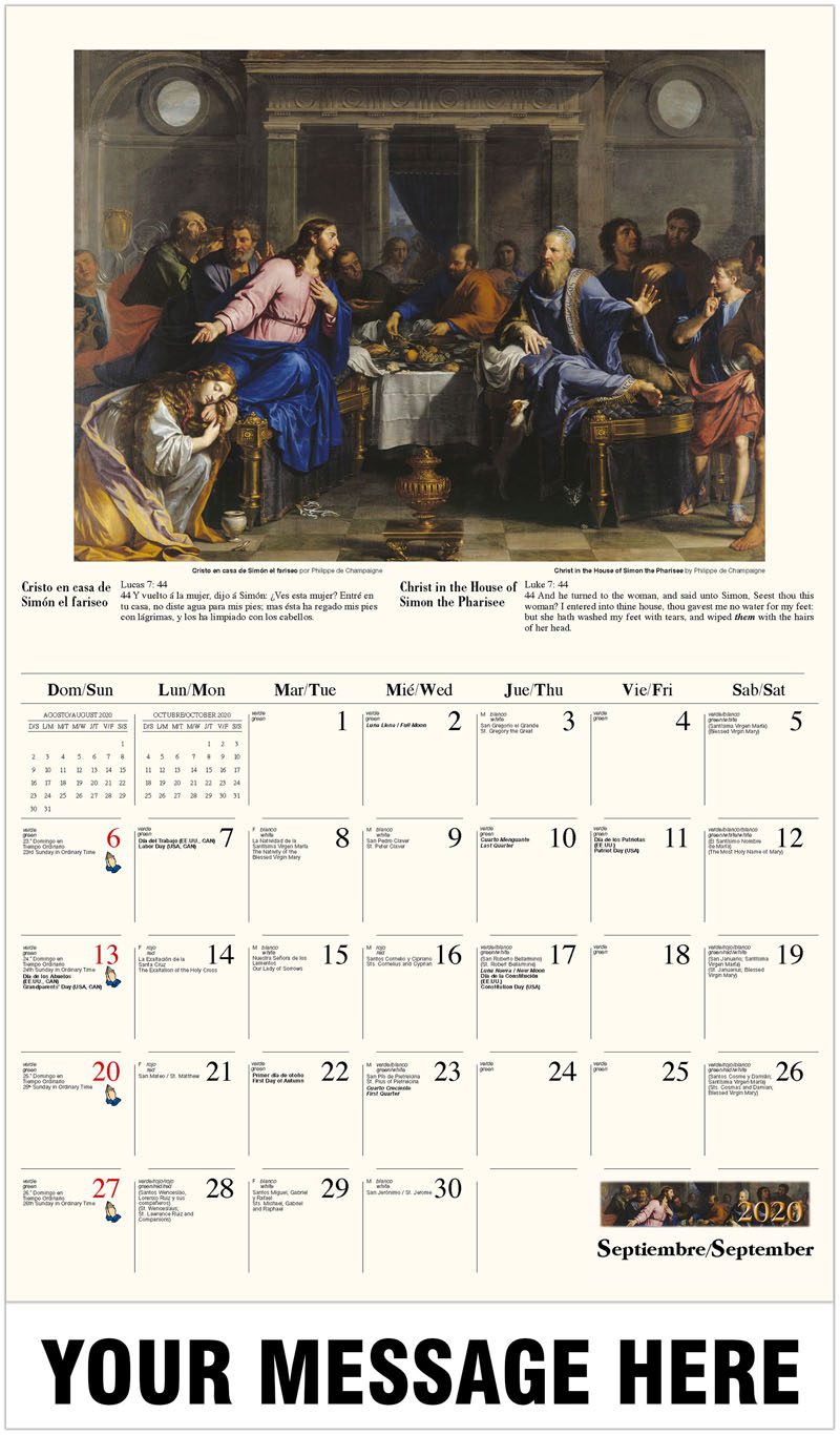 catholic art 2020 promotional calendar