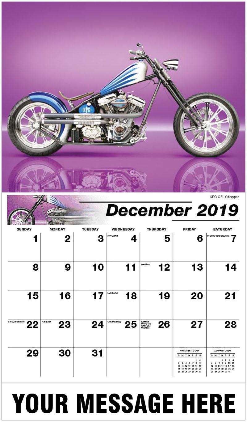 Motorcycle Calendar 2020 Custom Motorcycles Wall Calendar   2020 Business advertising calendar