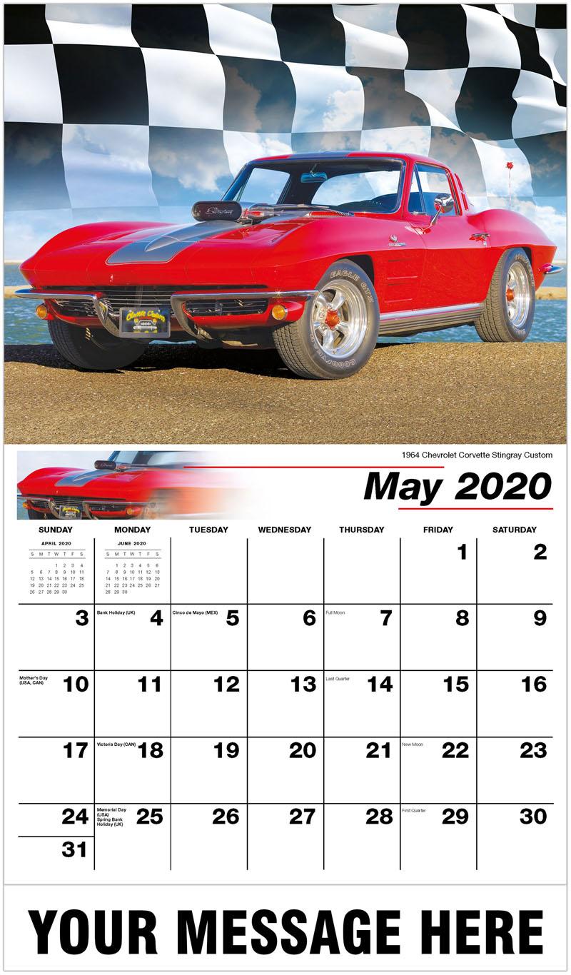 Car Calendar 2020 Hot Rods   Muscle Cars Calendar | 2020 Business Promo Calendar