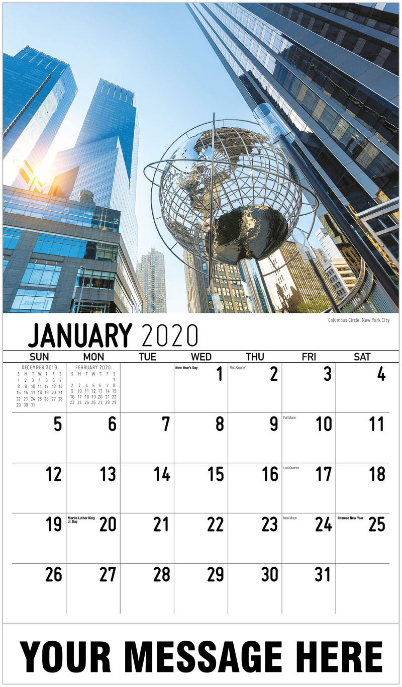 calendar 2020 new york