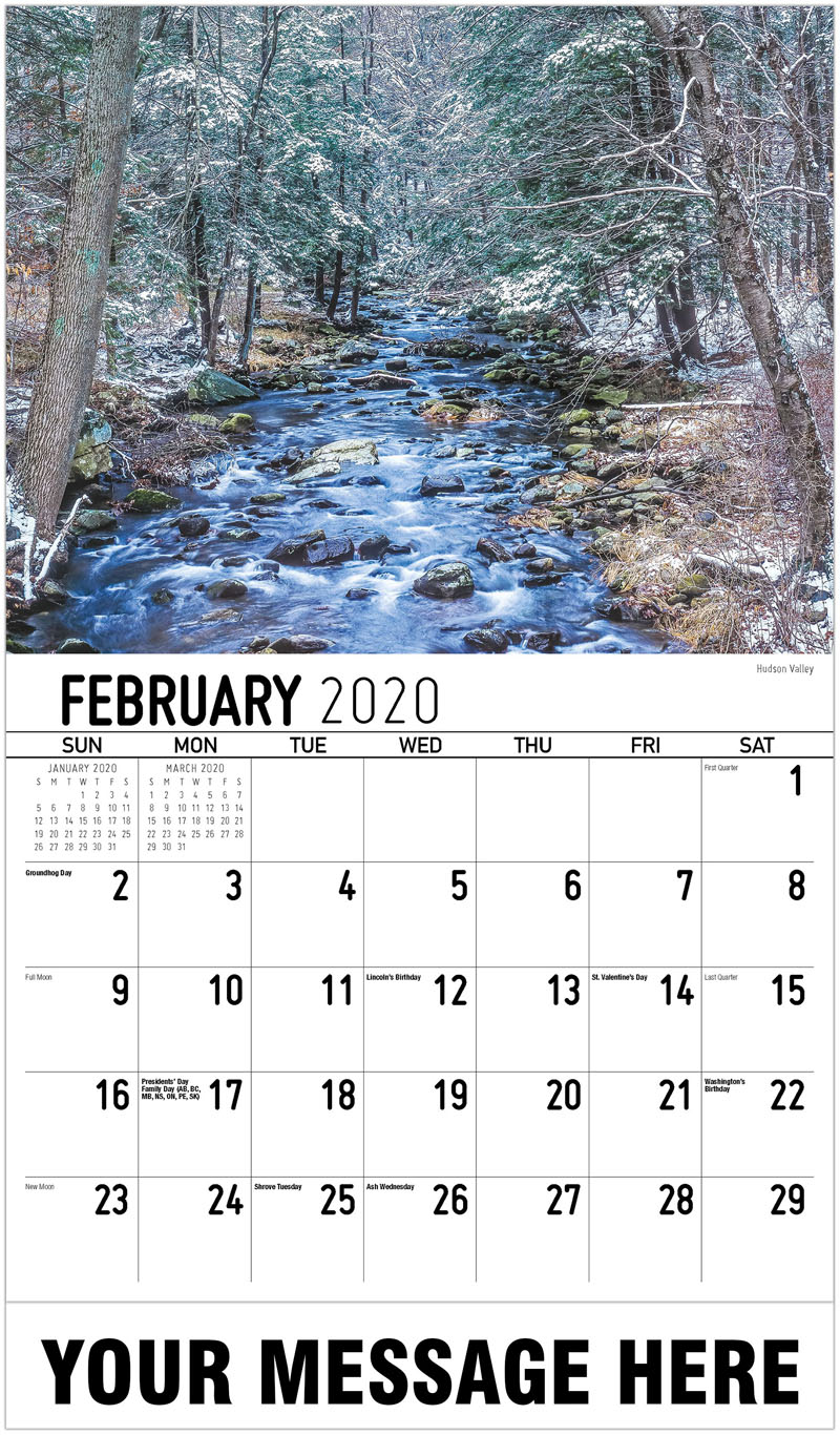 New York State 2020 February Calendars 2020 Advertising Calendar | New York State Scenic Calendar