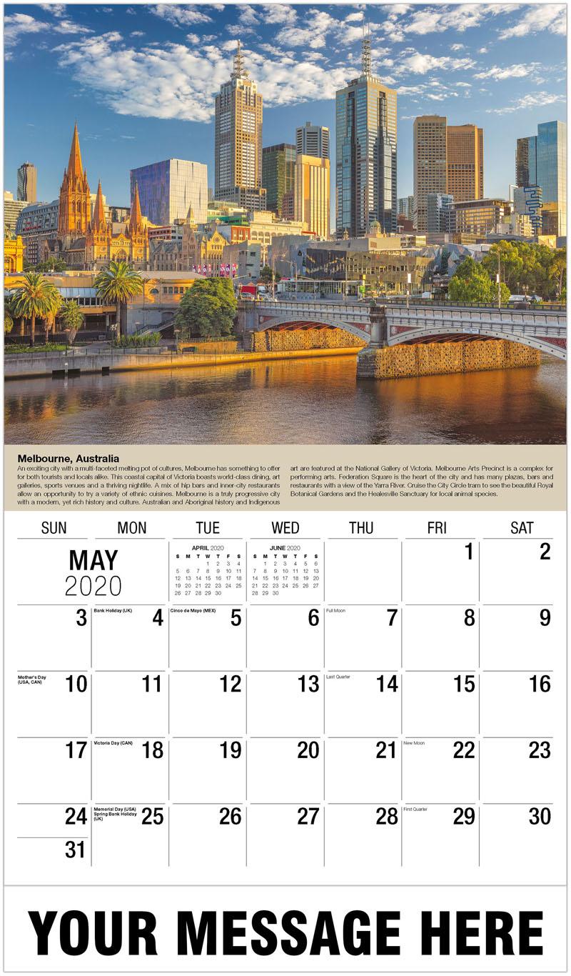 Calendar 2020 Melbourne Travel Destinations of the World | 2020 Business Promo Calendar