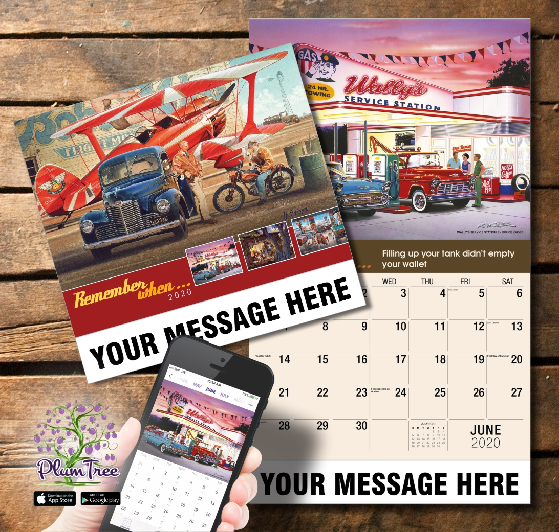 2020 Business Promotion Calendar - Remember When and PlumTree app