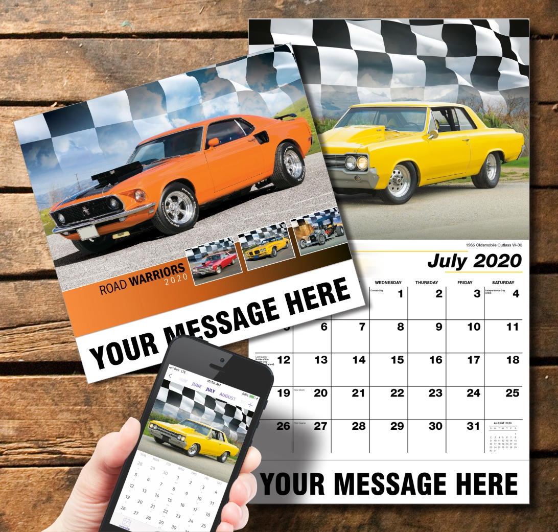 2020 Business Promotion Calendar - Road Warriors and PlumTree app