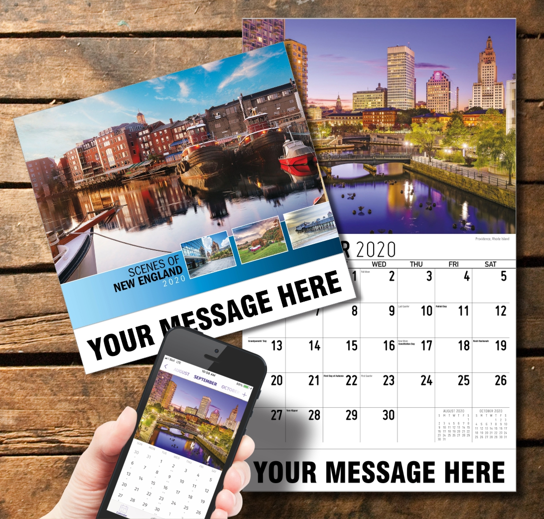 2020 Business Promotion Calendar - Scenes of New England and PlumTree app