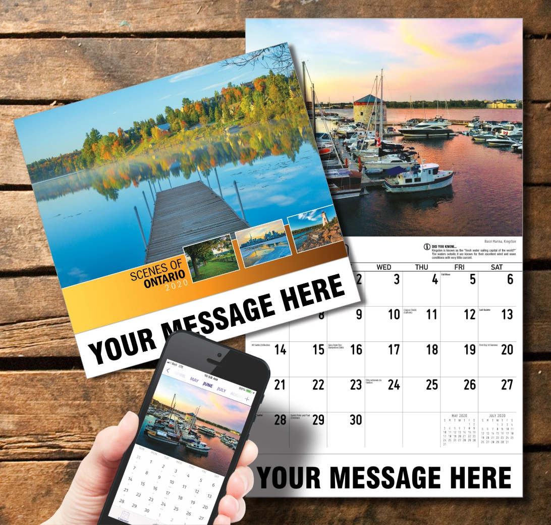 2020 Business Promotion Calendar - Scenes of Ontario and PlumTree app