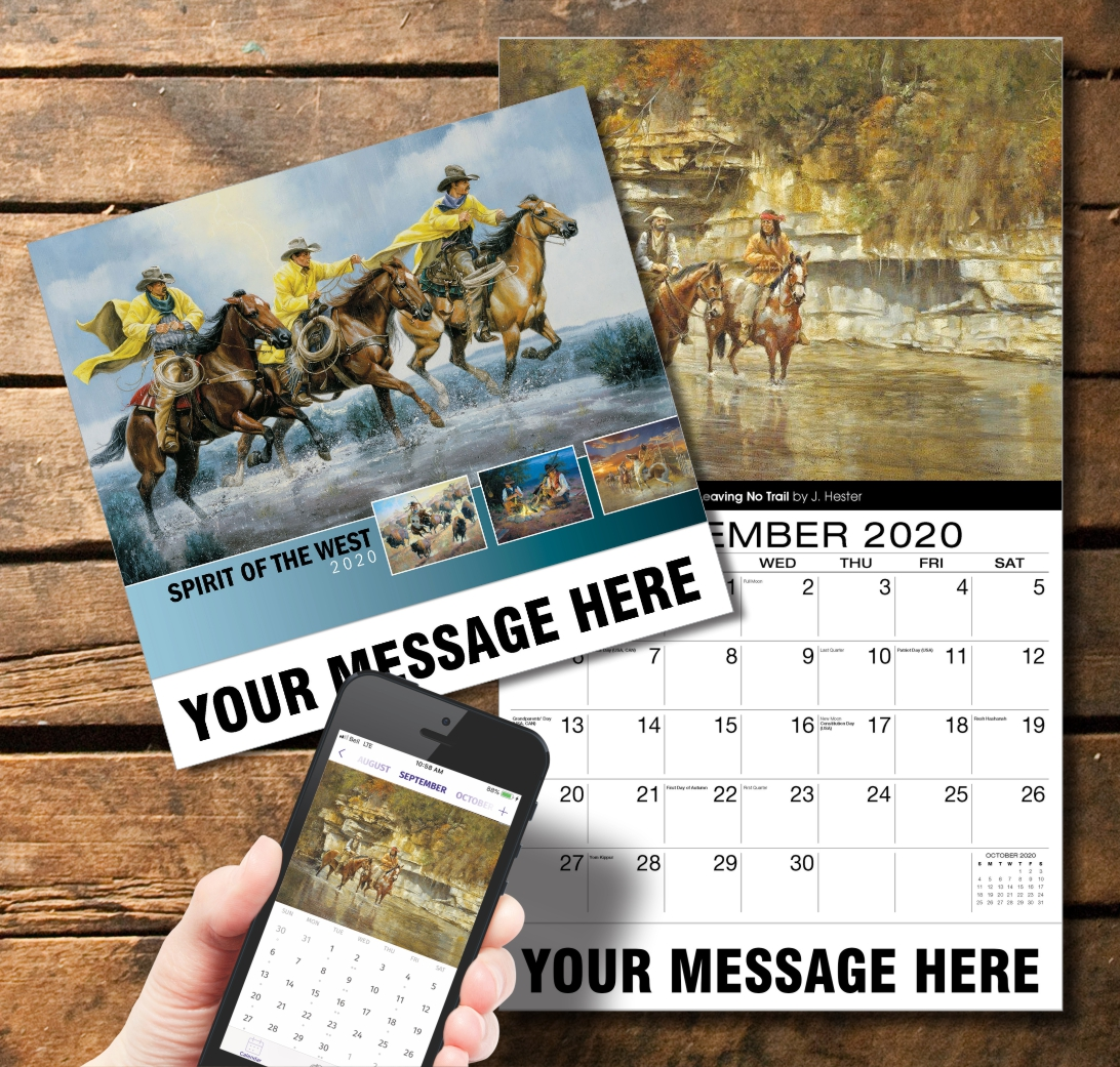 2020 Business Promotion Calendar - Spirit of the Old West and PlumTree app