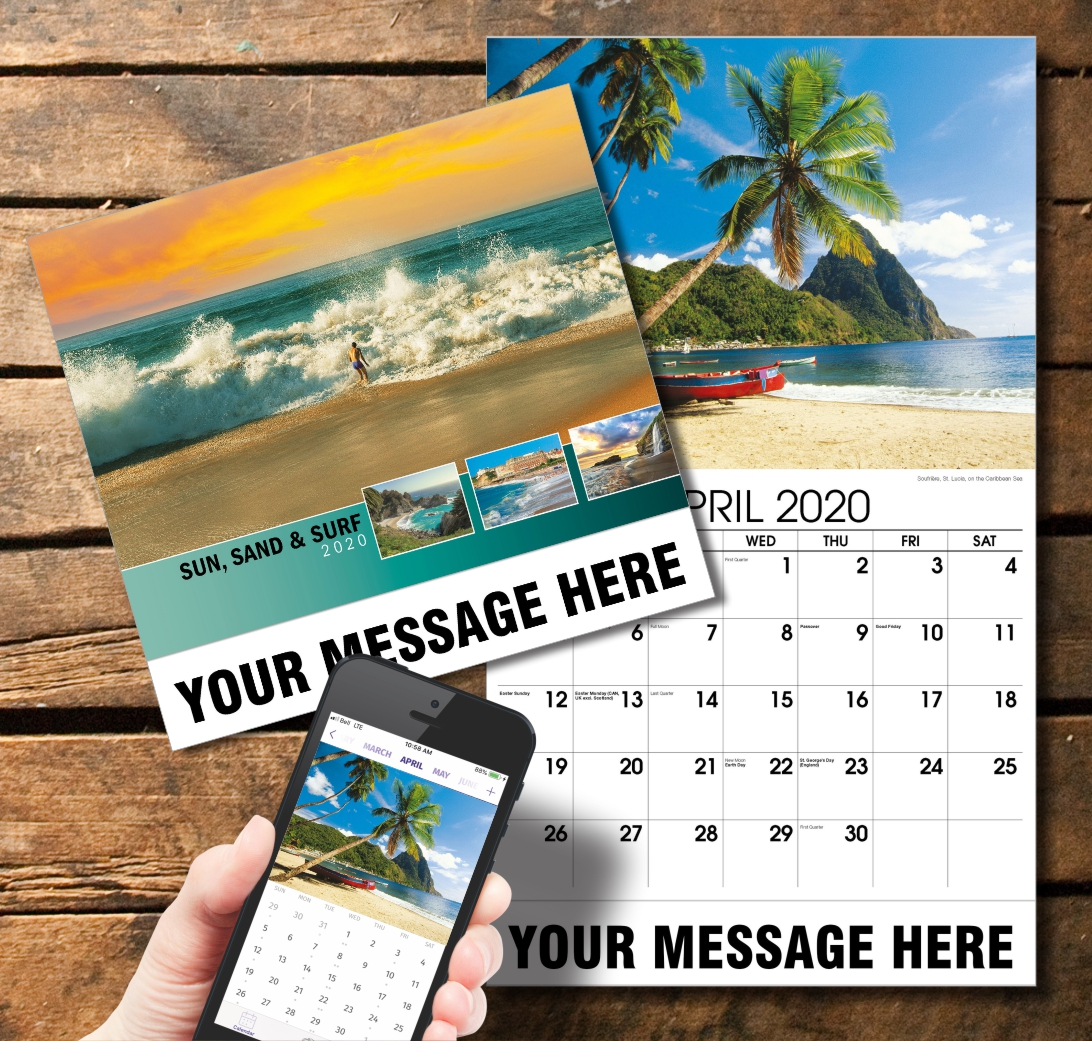 2020 Business Promotion Calendar - Sun, Sand and Surf and PlumTree app