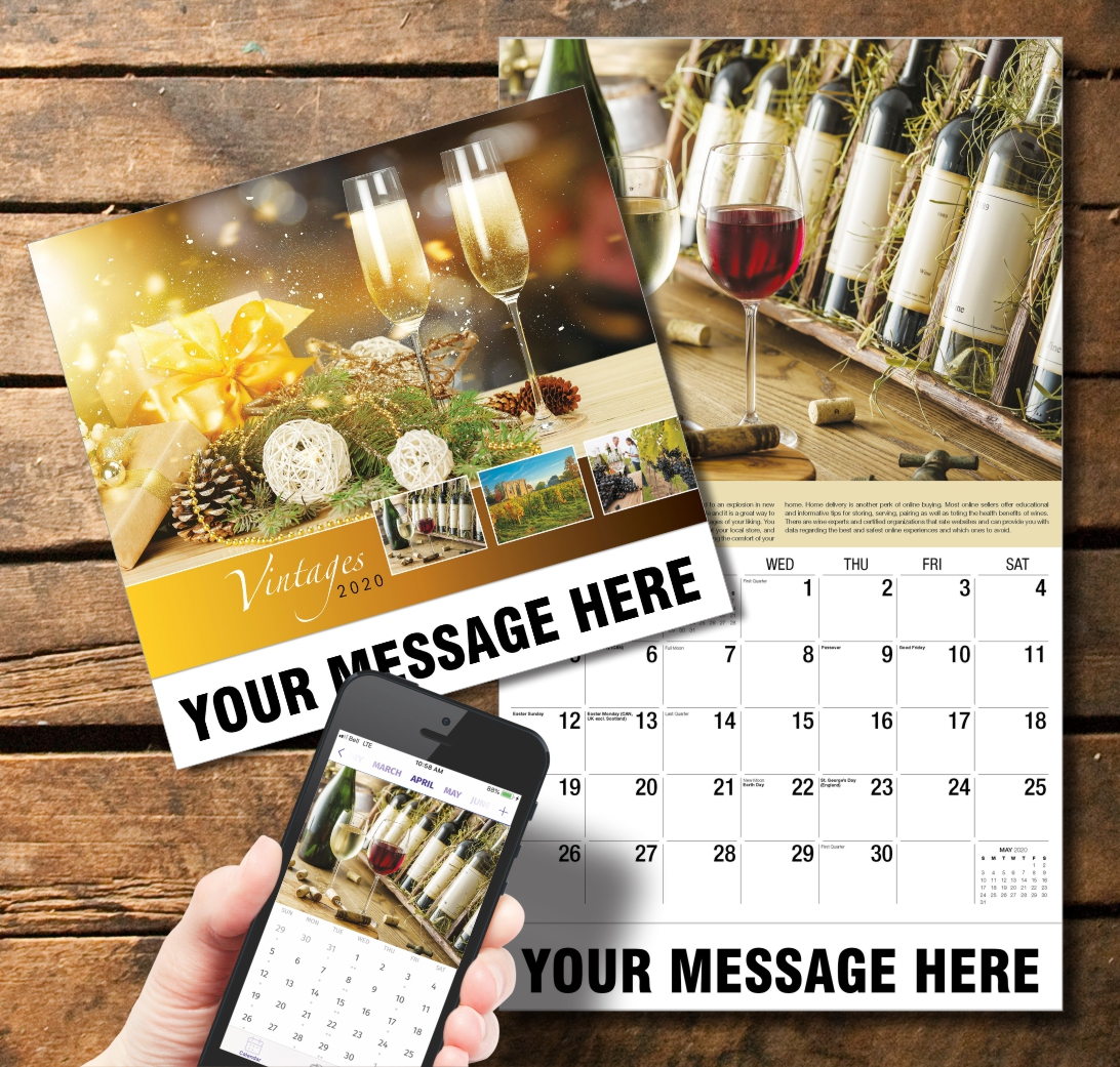 2020 Business Promotion Calendar - Vintages, Wine Tips and PlumTree app