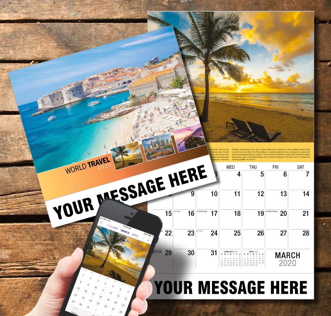 2020 Business Promotion Calendar - World Travel and PlumTree app
