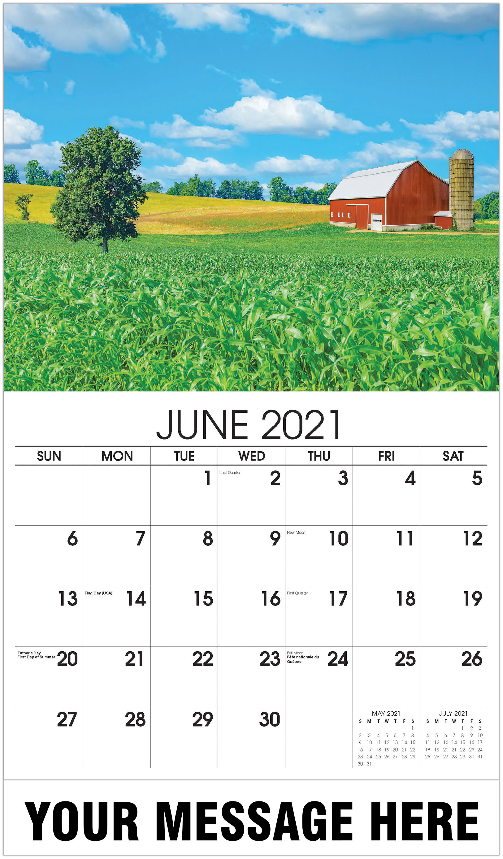 Farmhouse - June - Country Spirit 2021 Promotional Calendar