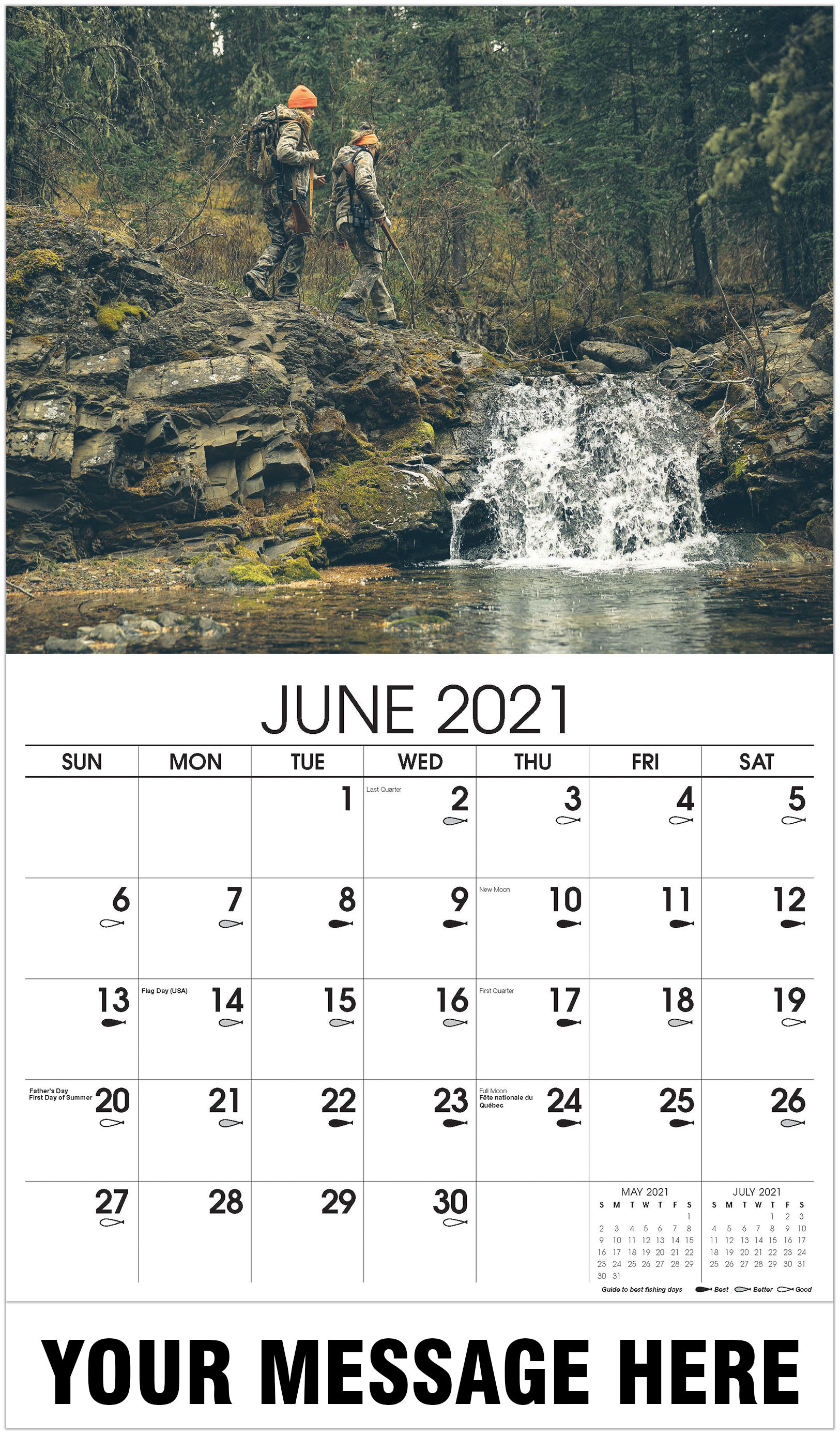 Mother and daughter hunters - June - Fishing & Hunting 2021 Promotional Calendar