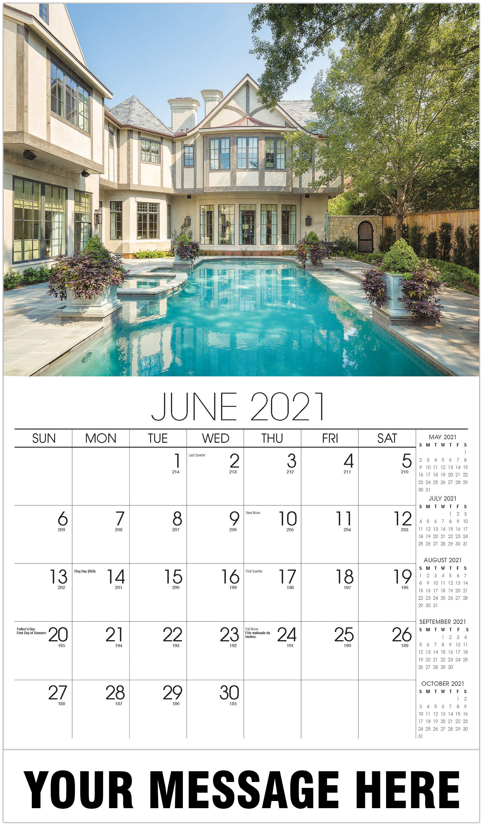 Luxury Homes Calendar - June - Homes 2021 Promotional Calendar