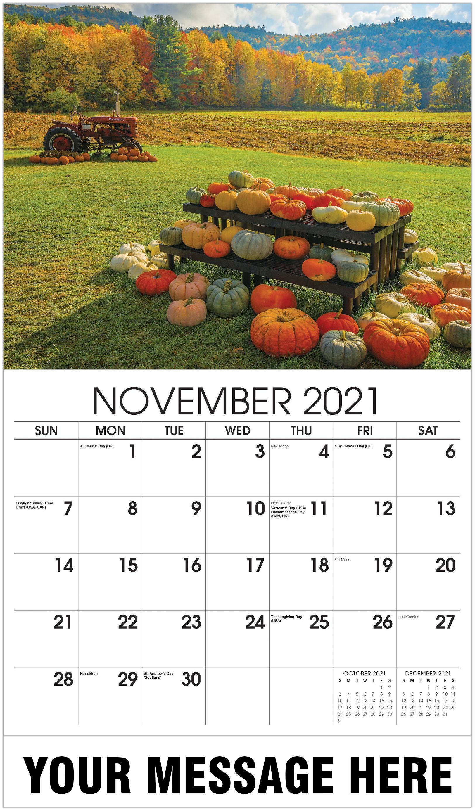 Pumpkins - November - Country Spirit 2021 Promotional Calendar