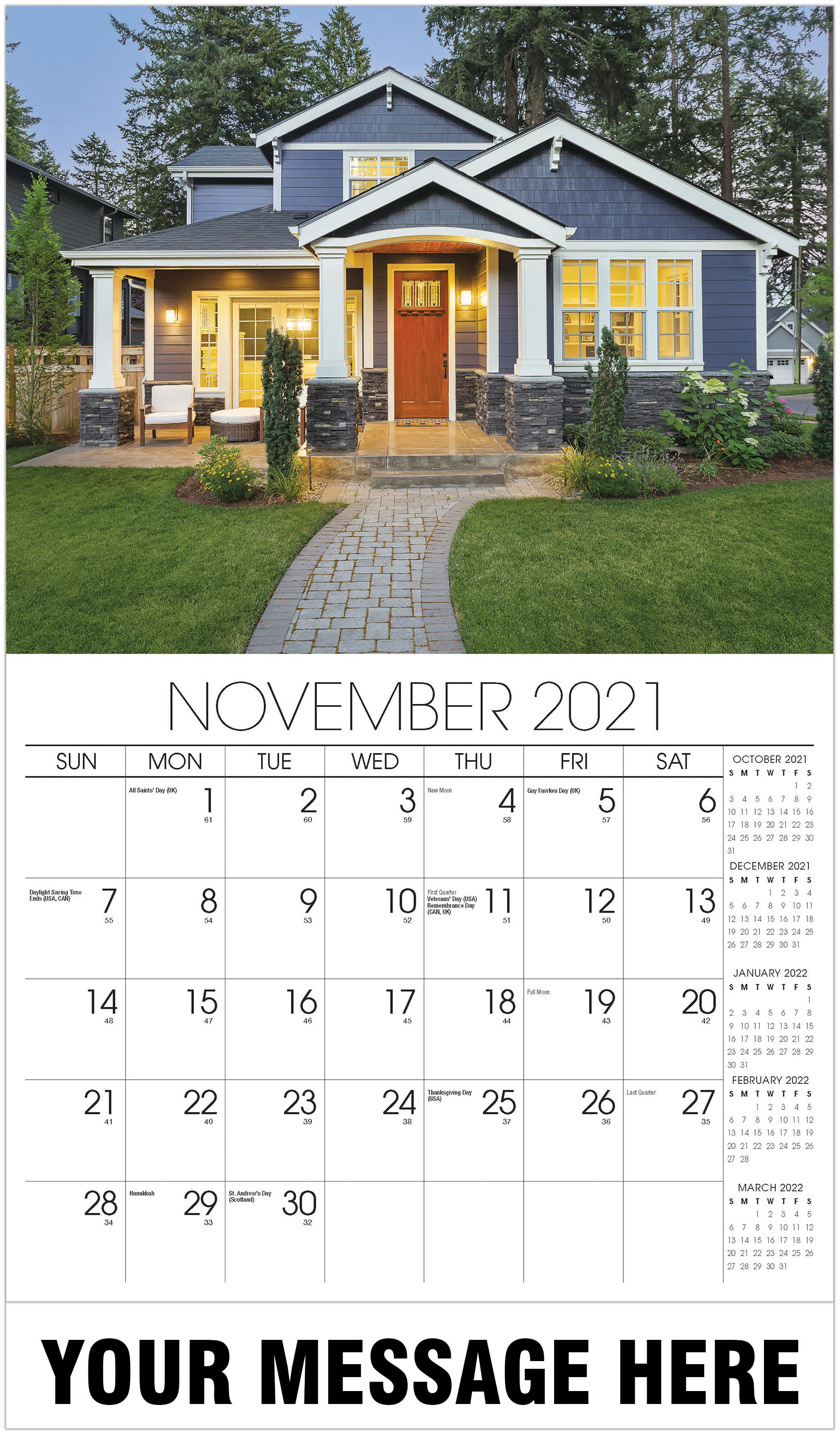 Luxury Homes Calendar - November - Homes 2021 Promotional Calendar