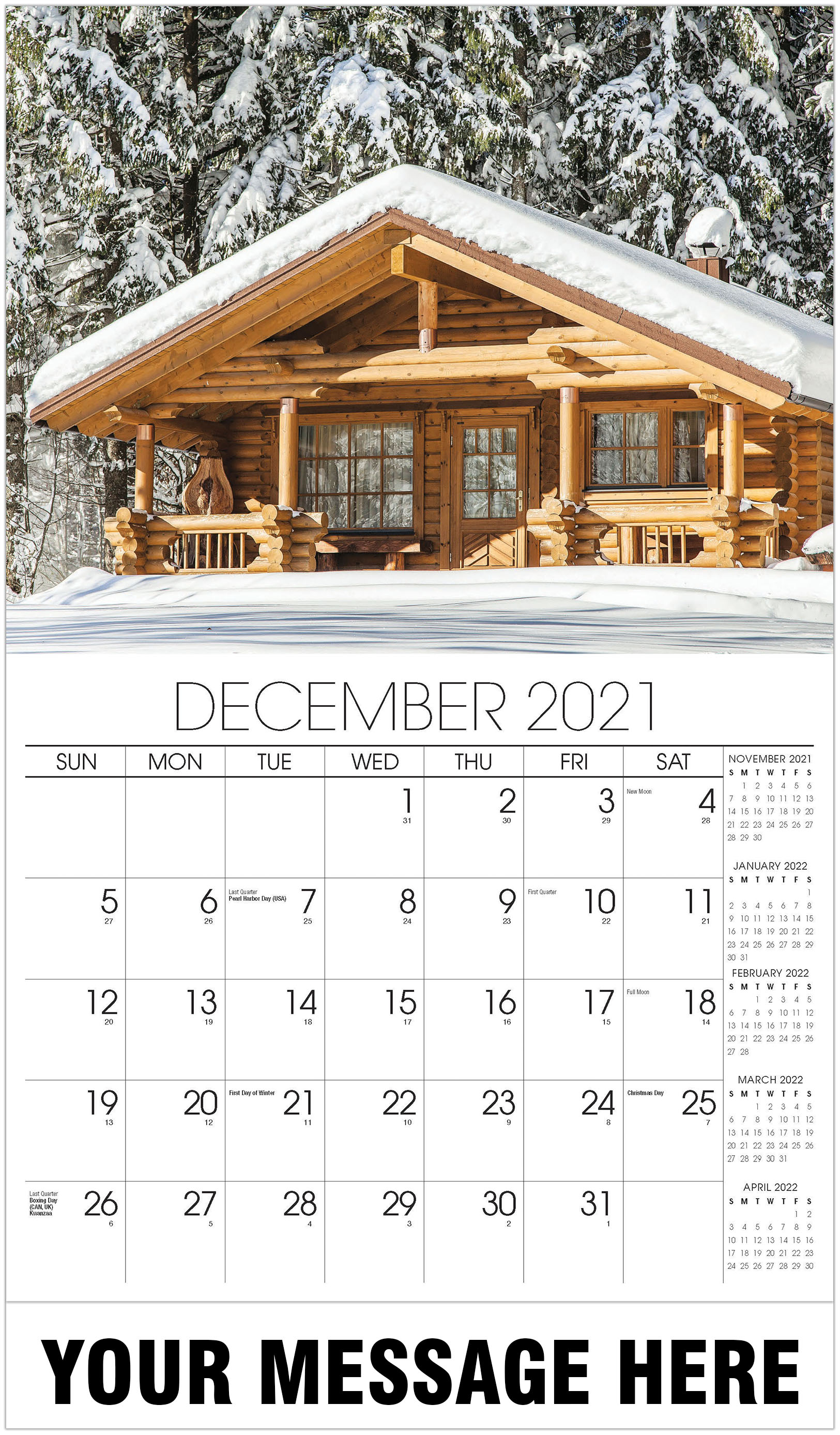 Luxury Homes Calendar - December 2021 - Homes 2021 Promotional Calendar
