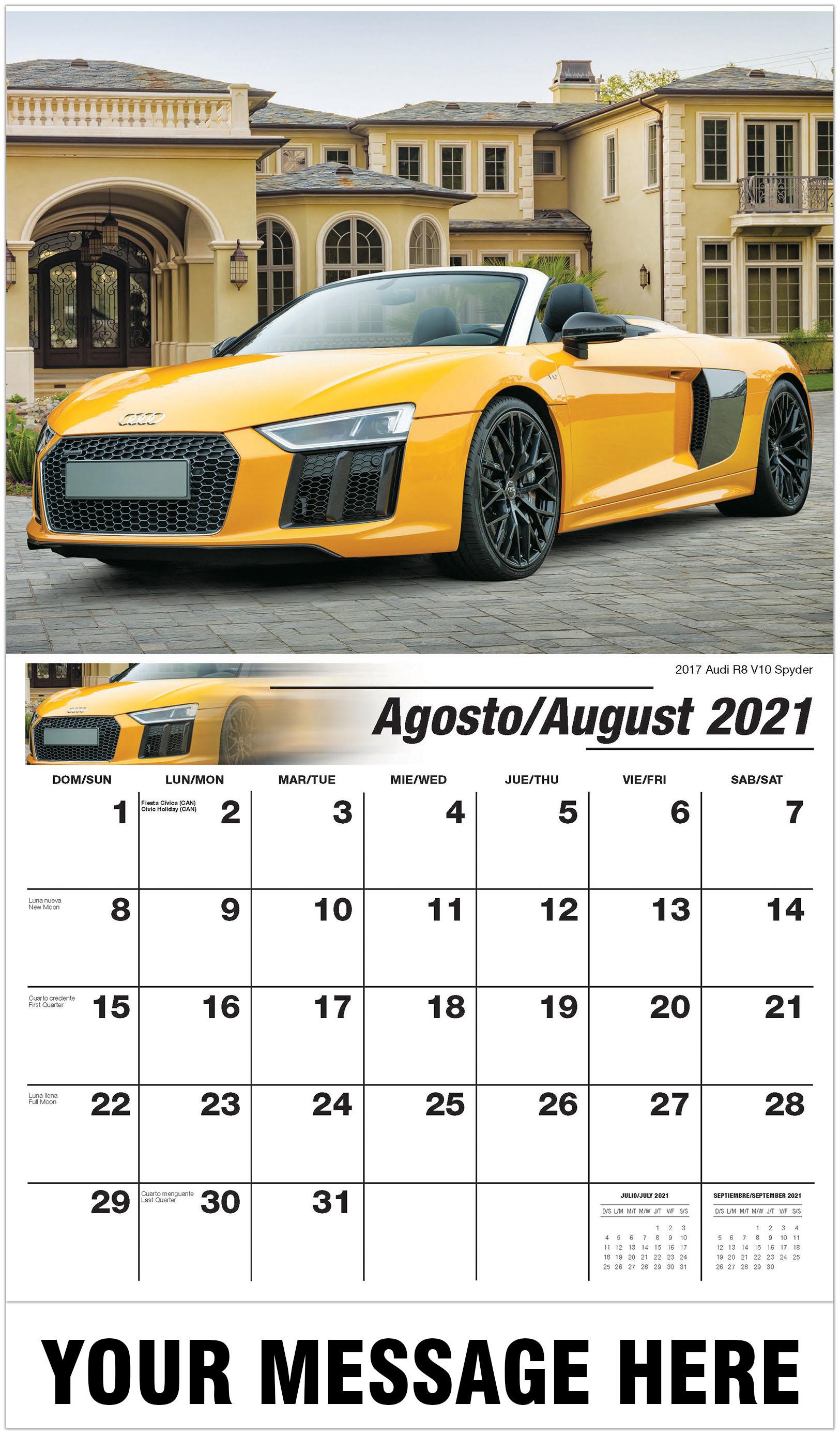 Spanish-English Exotic Car Calendar |2021 Business ...