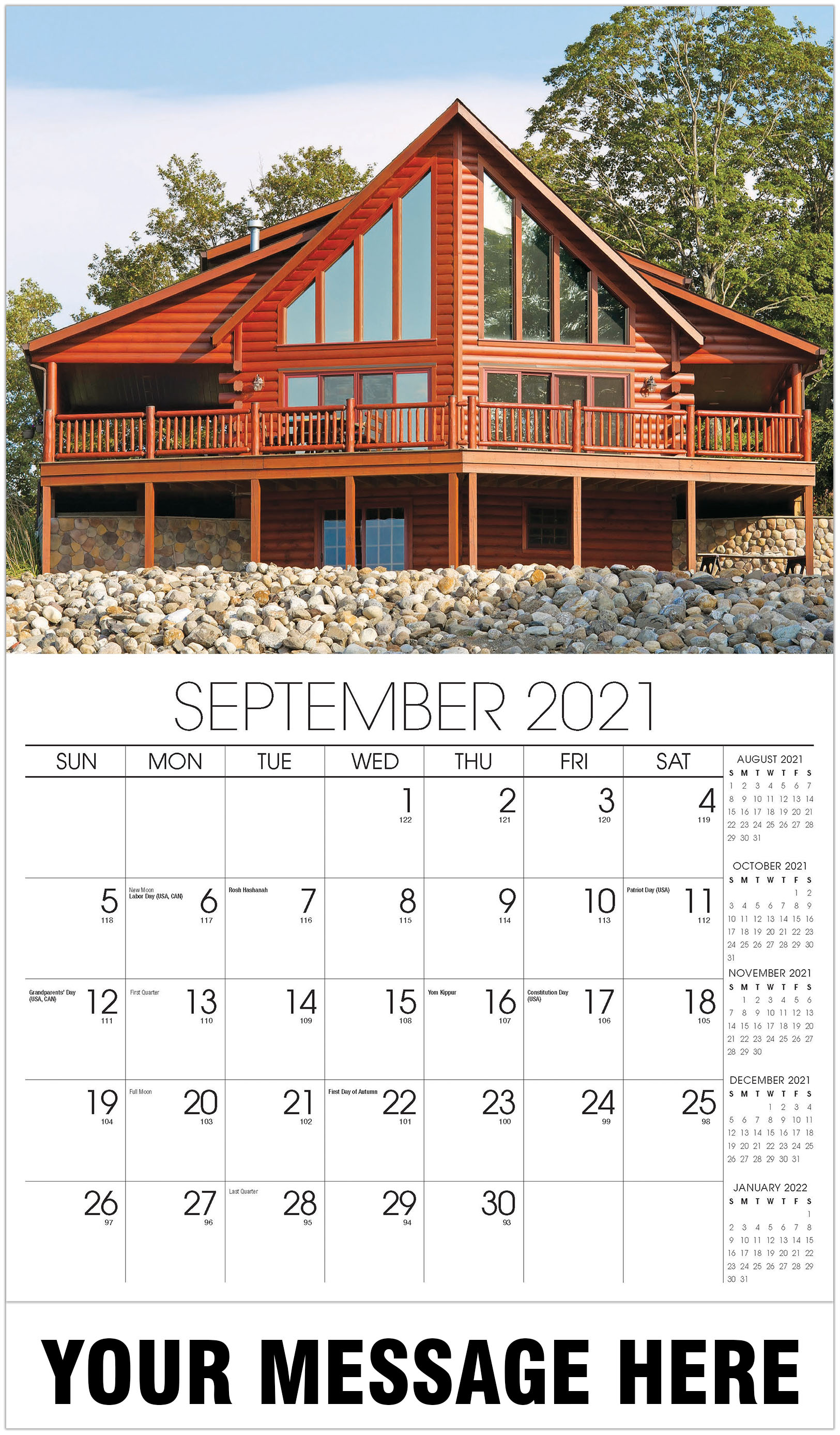 Luxury Homes Calendar - September - Homes 2021 Promotional Calendar