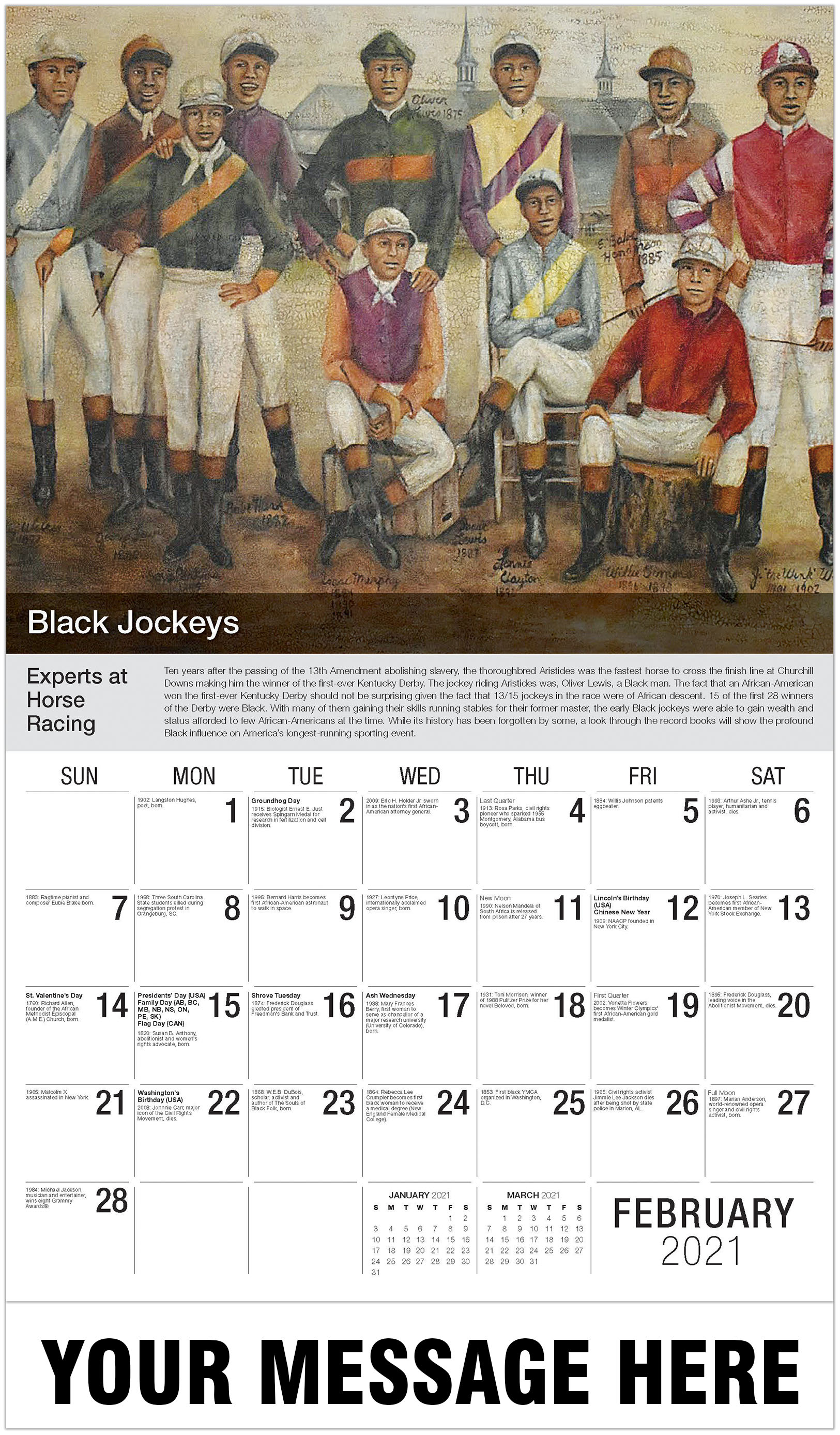 The Foundation - February - Black History 2021 Promotional Calendar