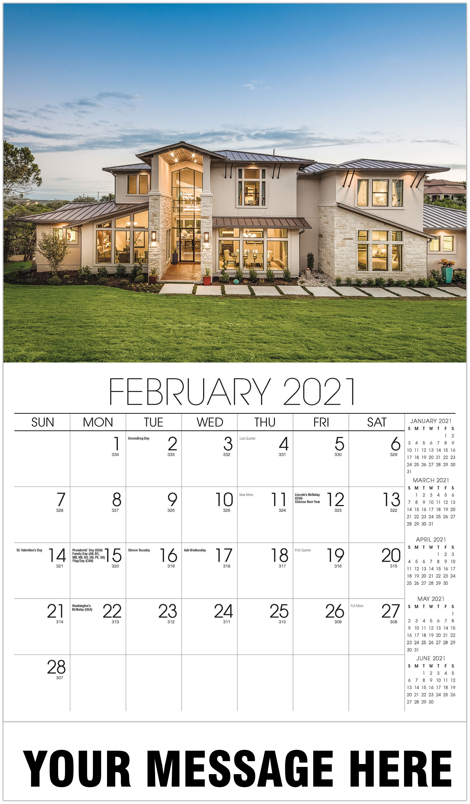 Luxury Homes Calendar - February - Homes 2021 Promotional Calendar