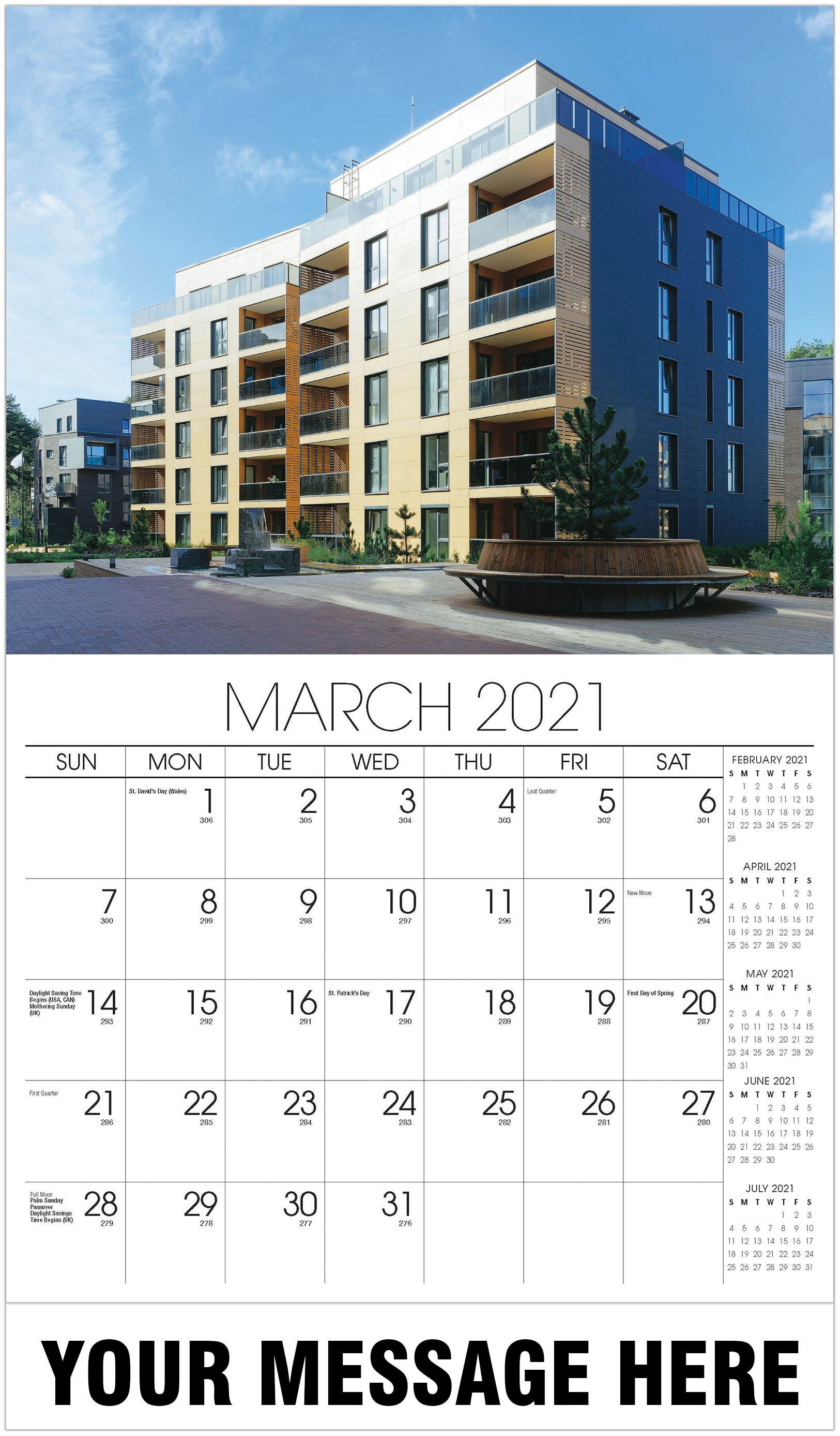 Luxury Homes Calendar - March - Homes 2021 Promotional Calendar