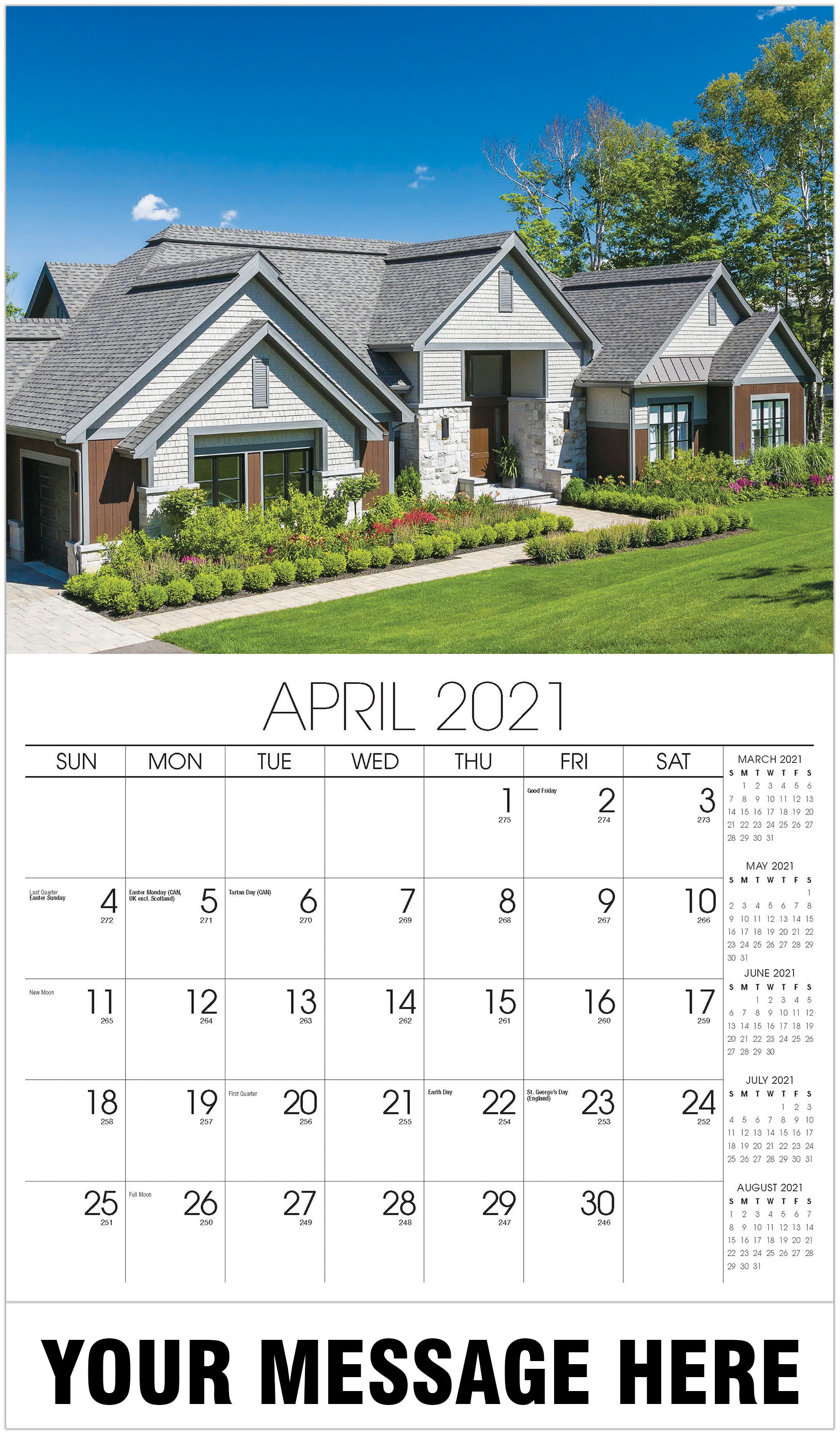 Luxury Homes Calendar - April - Homes 2021 Promotional Calendar