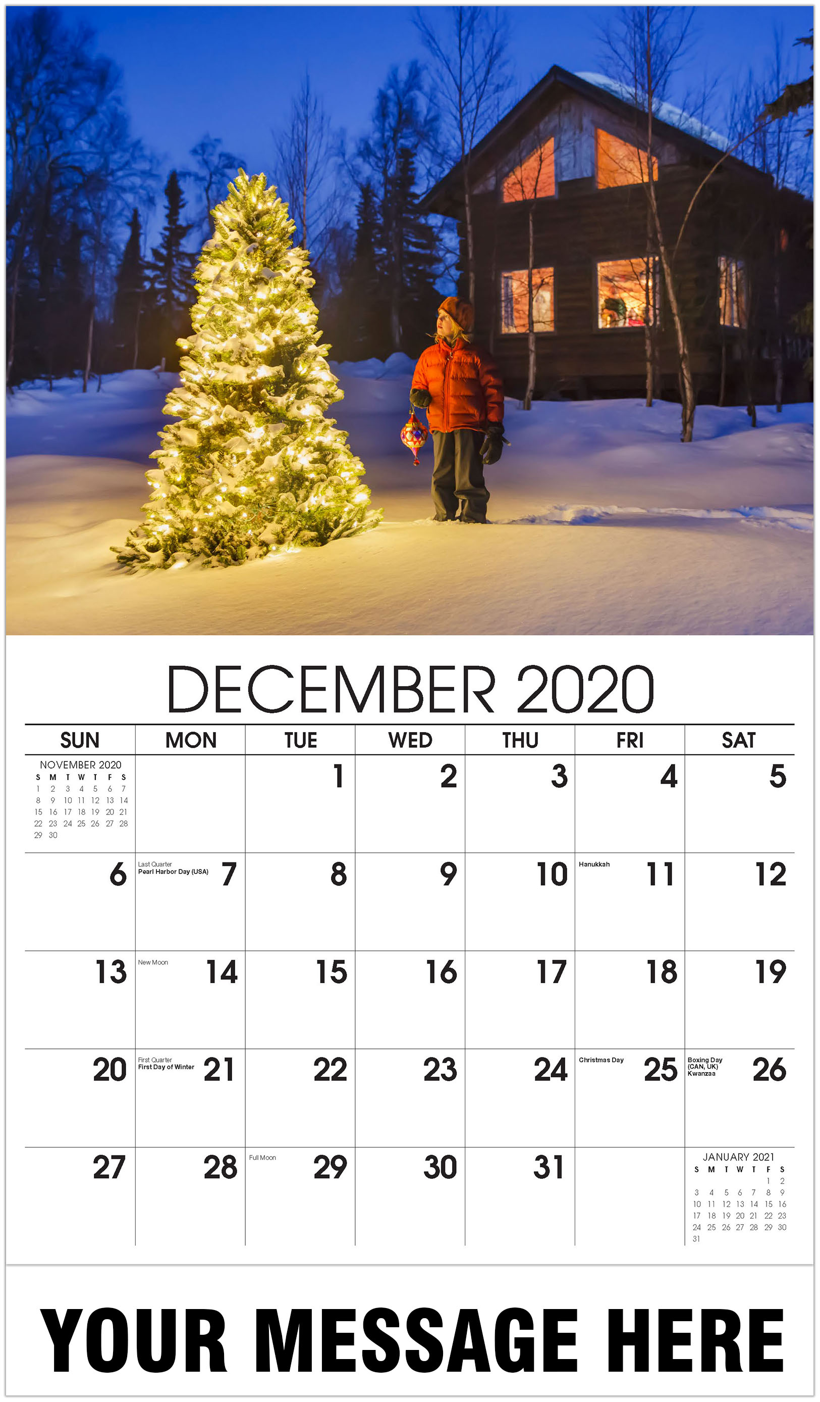 Country christmas tree - December 2020 - Country Spirit 2021 Promotional Calendar