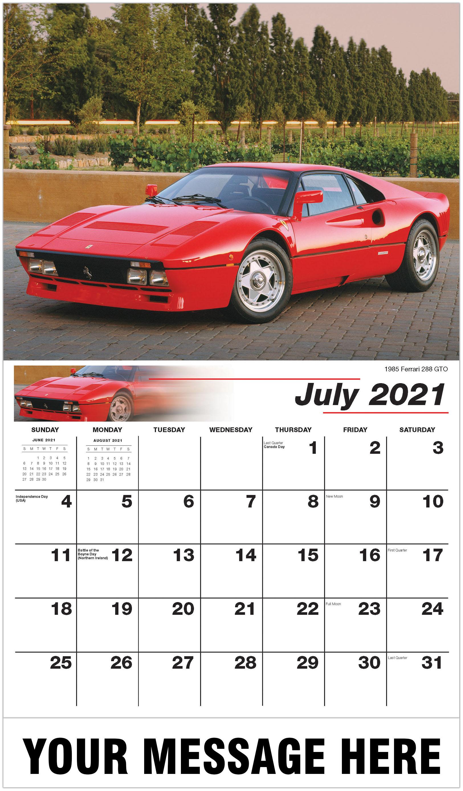 2021 promotional calendar  classic car business promo