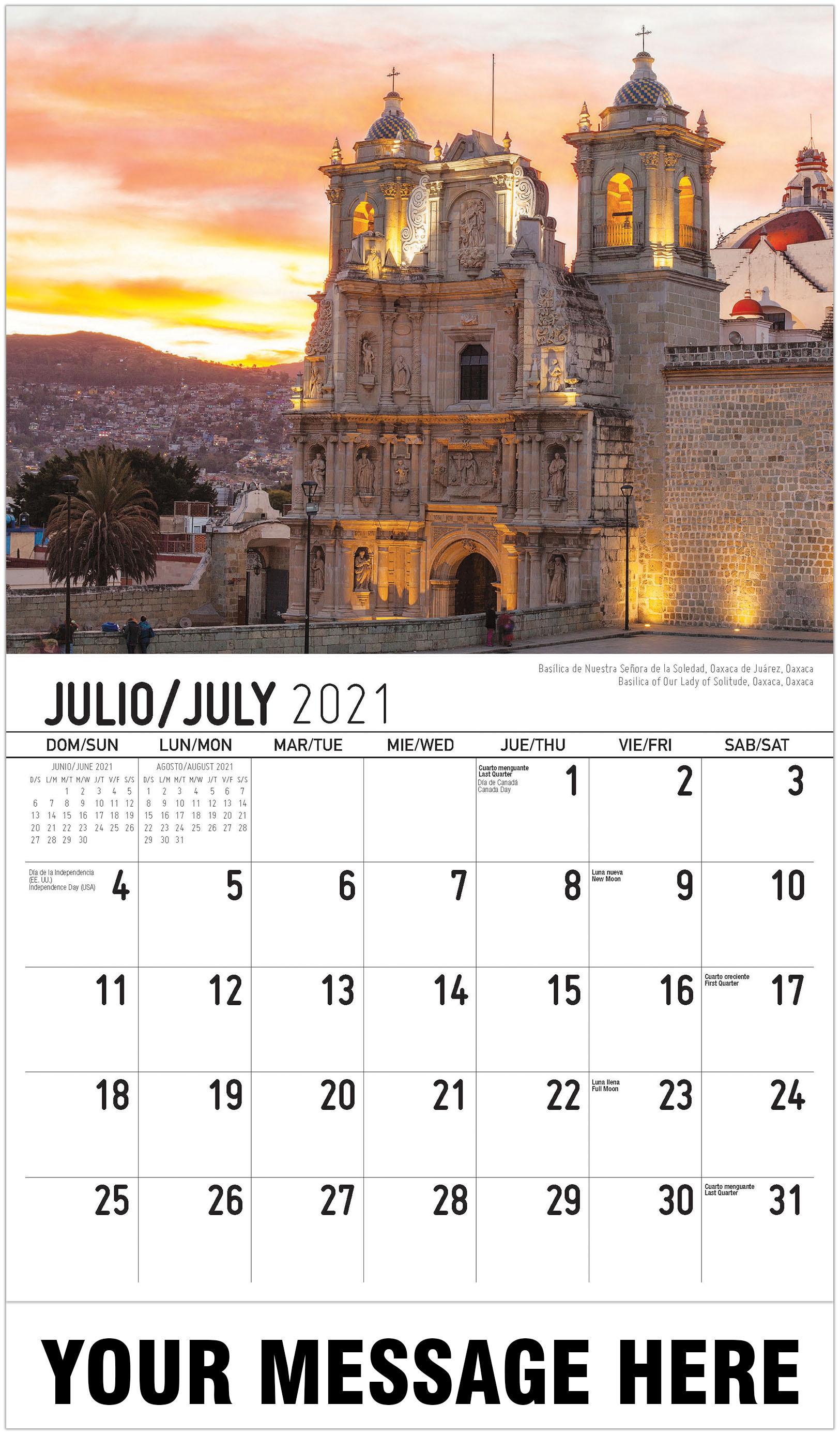 Mexican Calendar Names 2021 Background