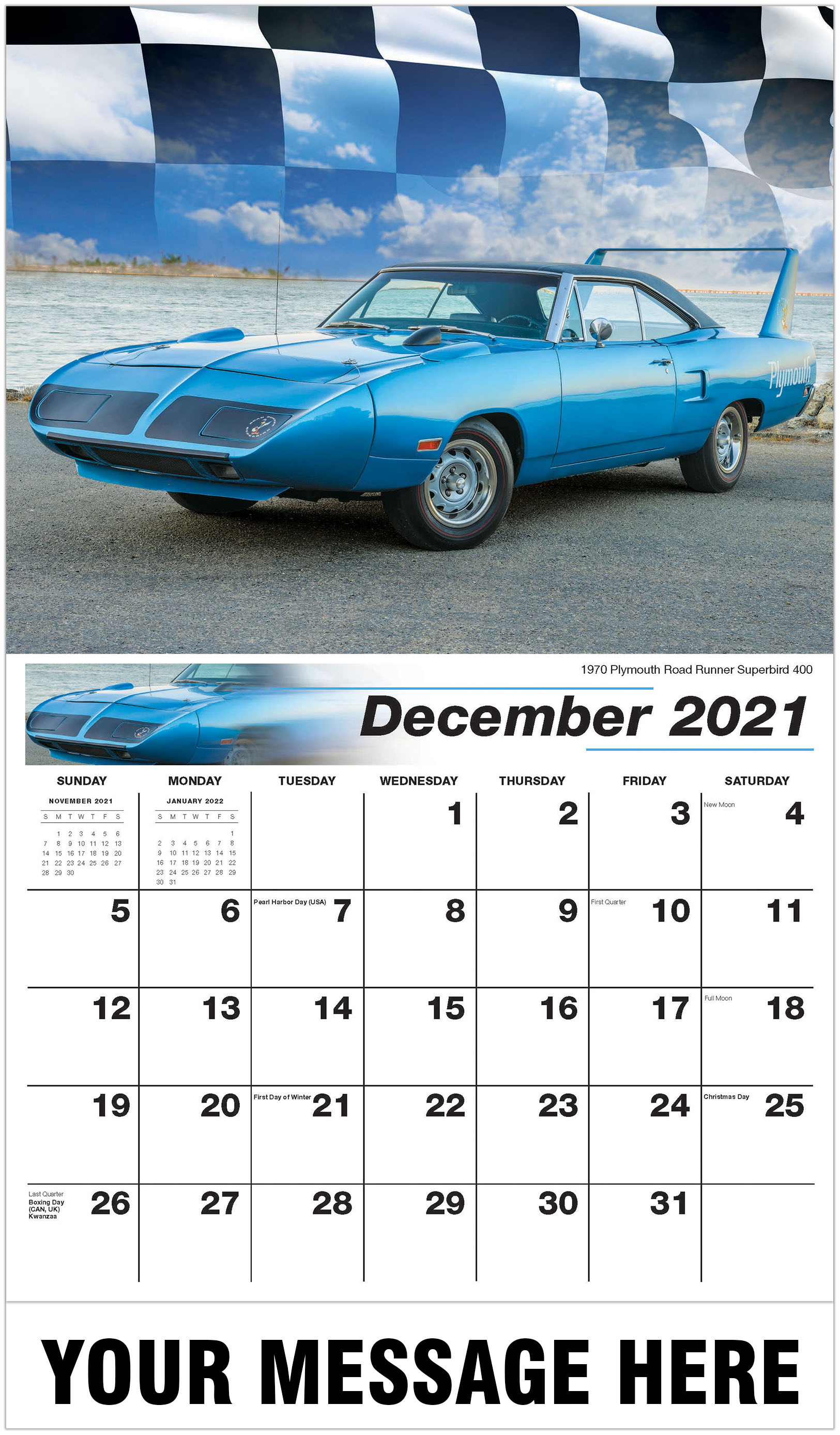 Hot Rods - Muscle Cars Calendar | 2021 Business Promo Calendar