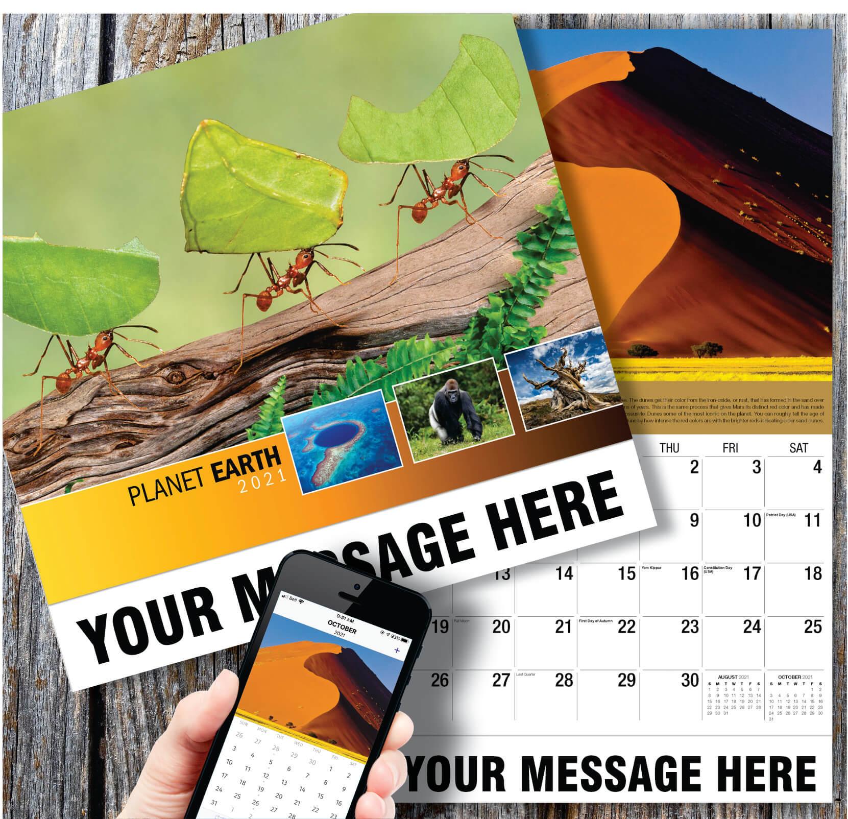 2021 Planet Earth Advertising Calendar   Business ...