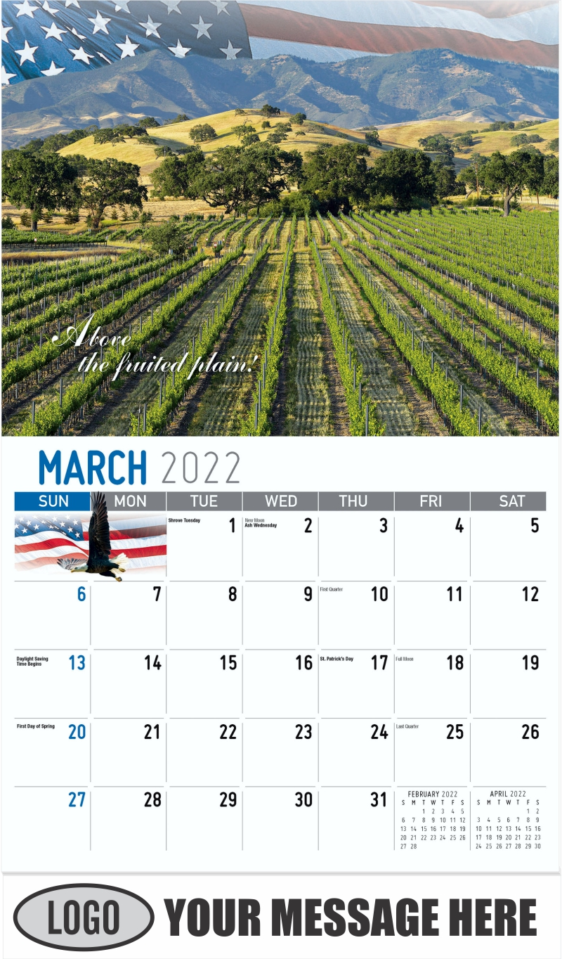 """""""Above the fruited plain"""" - March - America the Beautiful 2022 Promotional Calendar"""