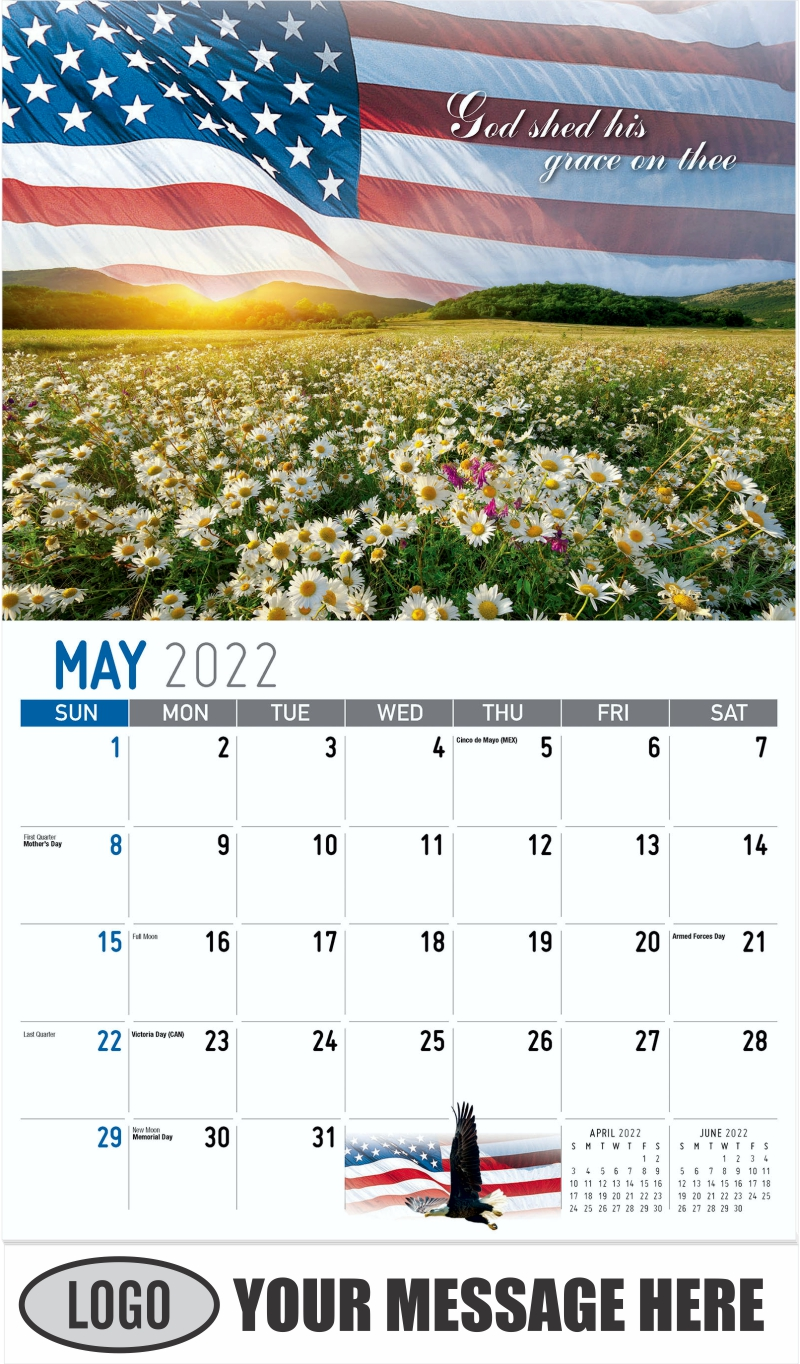 """""""God shed his grace on thee"""" - May - America the Beautiful 2022 Promotional Calendar"""