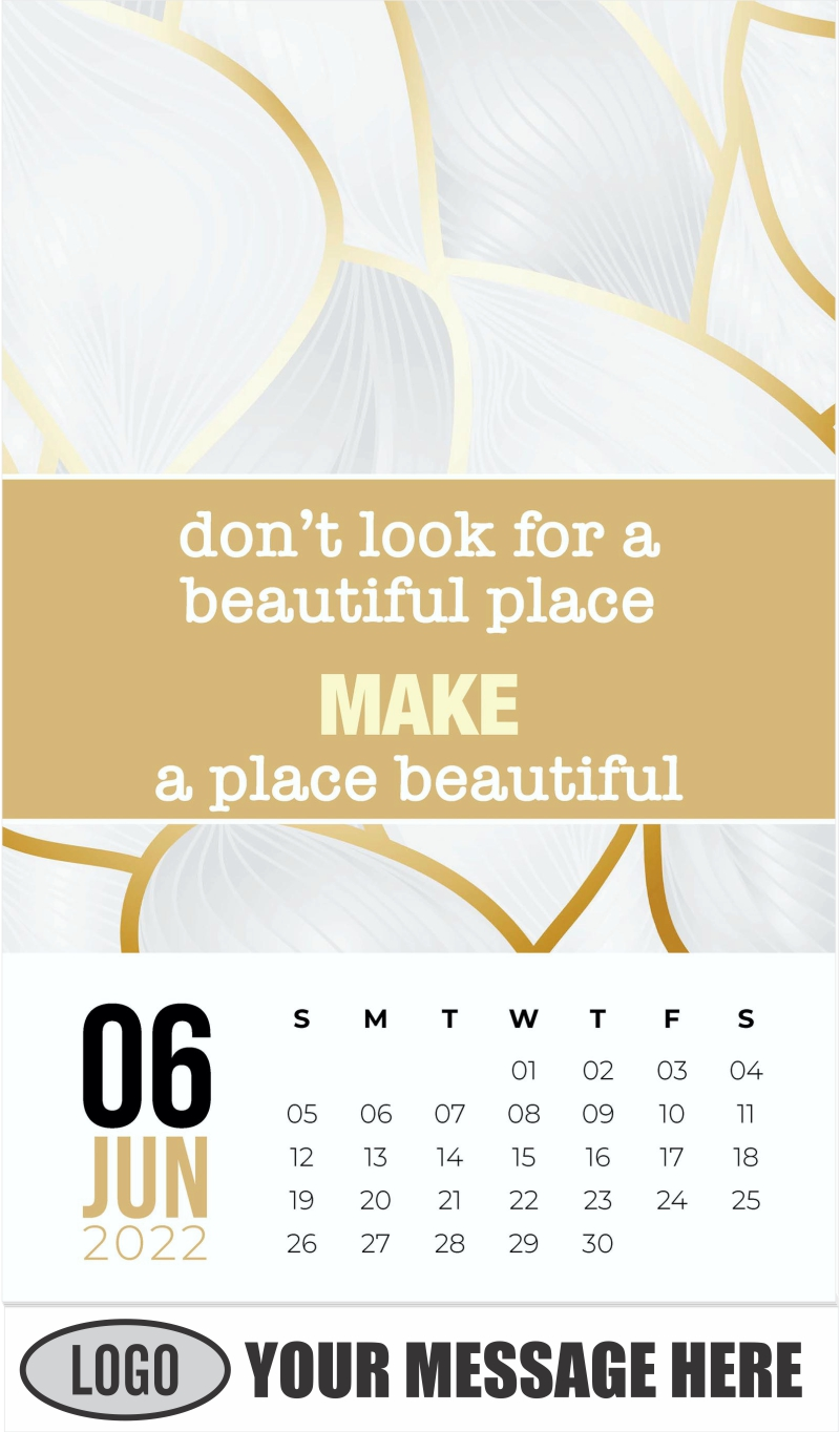 Abstract Background - June - Arts and Thoughts 2022 Promotional Calendar