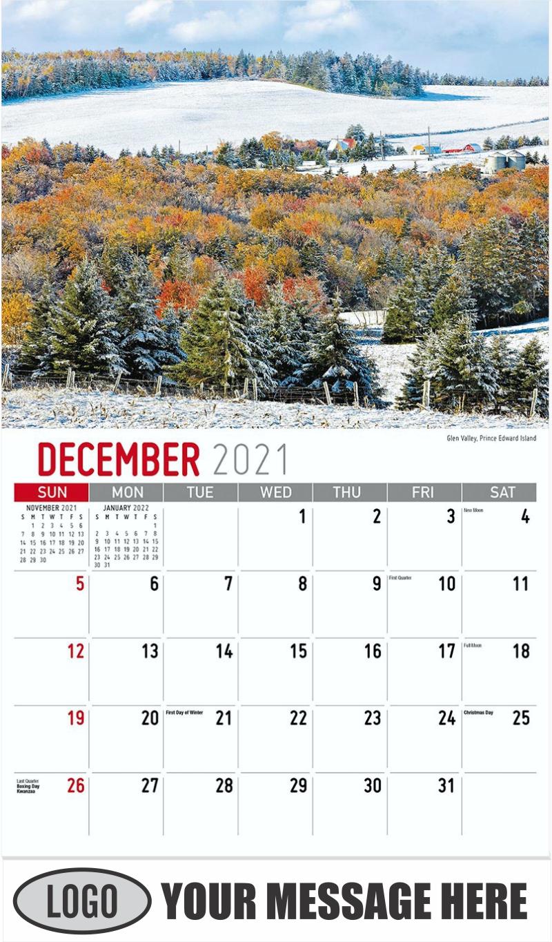 Glen Valley, Prince Edward Island - December 2021 - Atlantic Canada 2022 Promotional Calendar