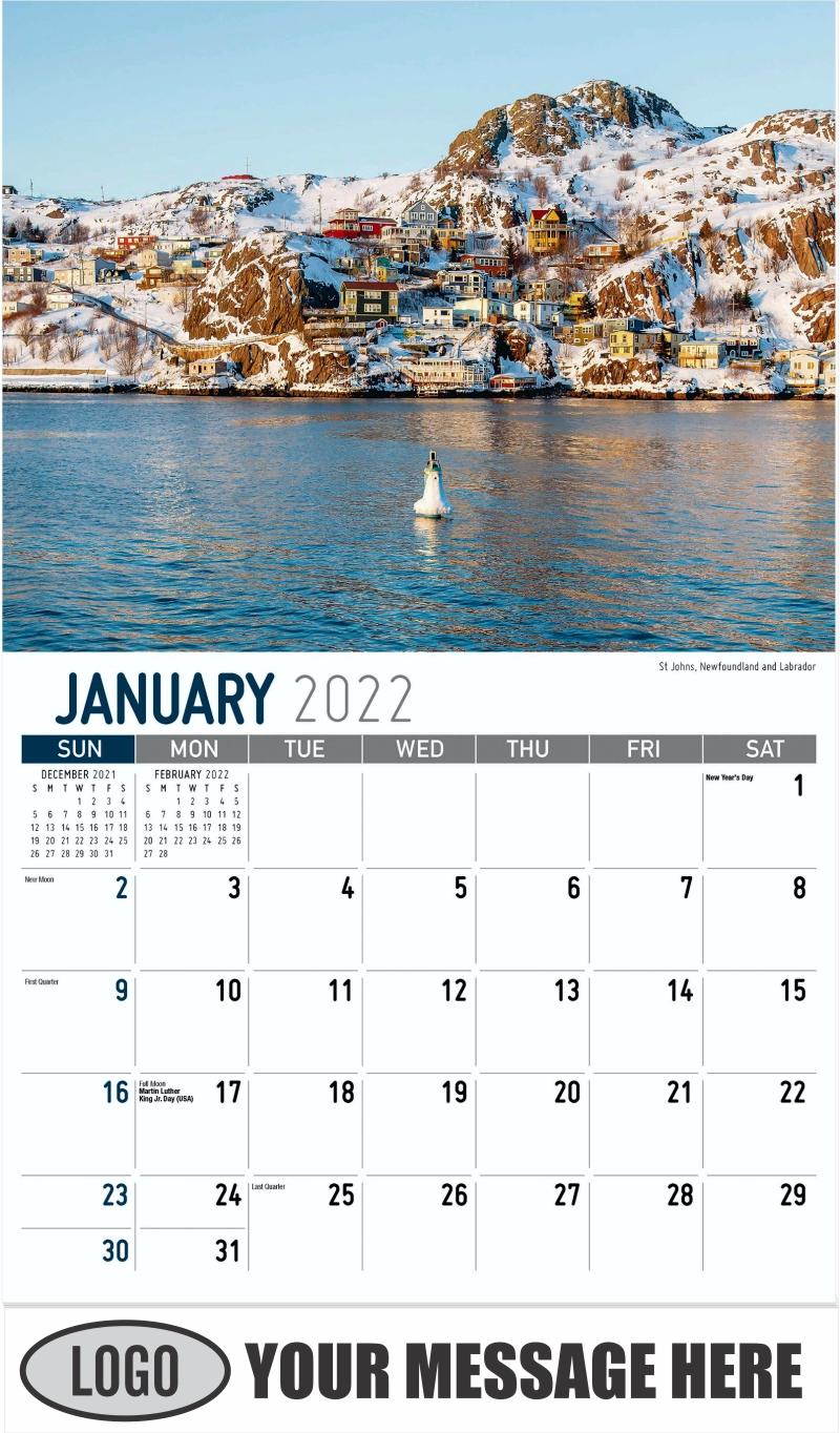 St Johns, Newfoundland and Labrador - January - Atlantic Canada 2022 Promotional Calendar
