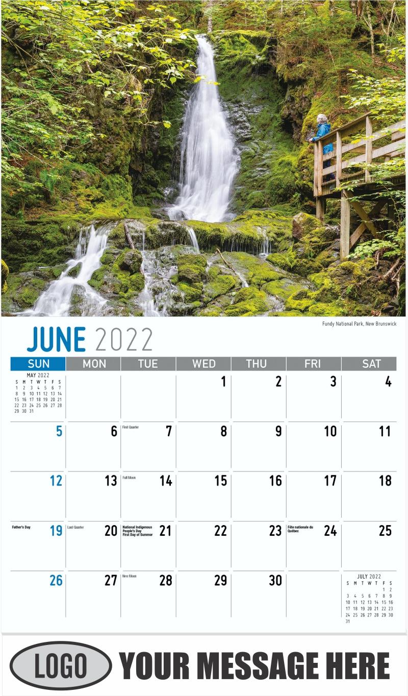 Fundy National Park, New Brunswick - June - Atlantic Canada 2022 Promotional Calendar