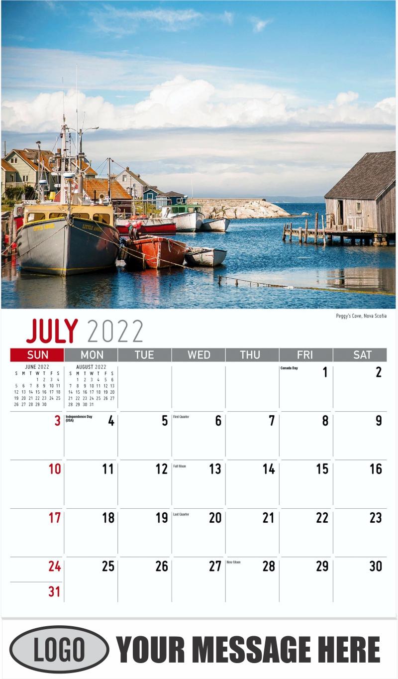 Peggy's Cove, Nova Scotia - July - Atlantic Canada 2022 Promotional Calendar