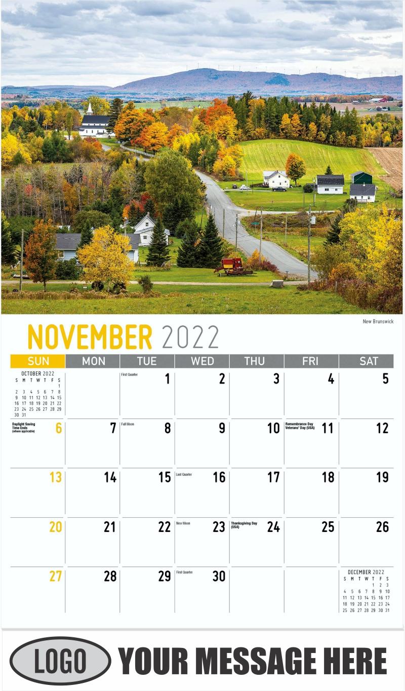 Jakes Landing, Kejimkujik National Park, Nova Scotia - October - Atlantic Canada 2022 Promotional Calendar