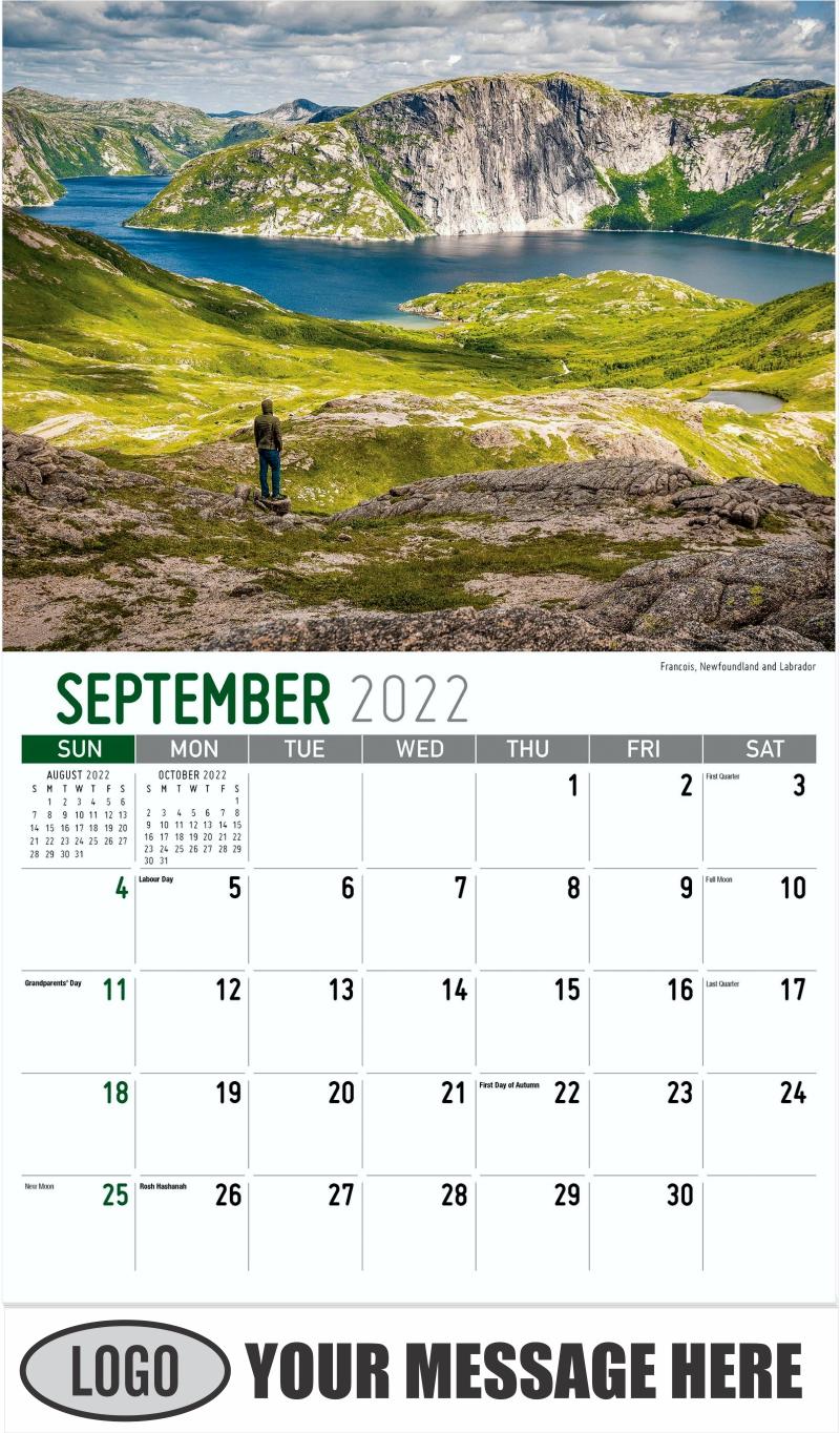 New Brunswick - November - Atlantic Canada 2022 Promotional Calendar